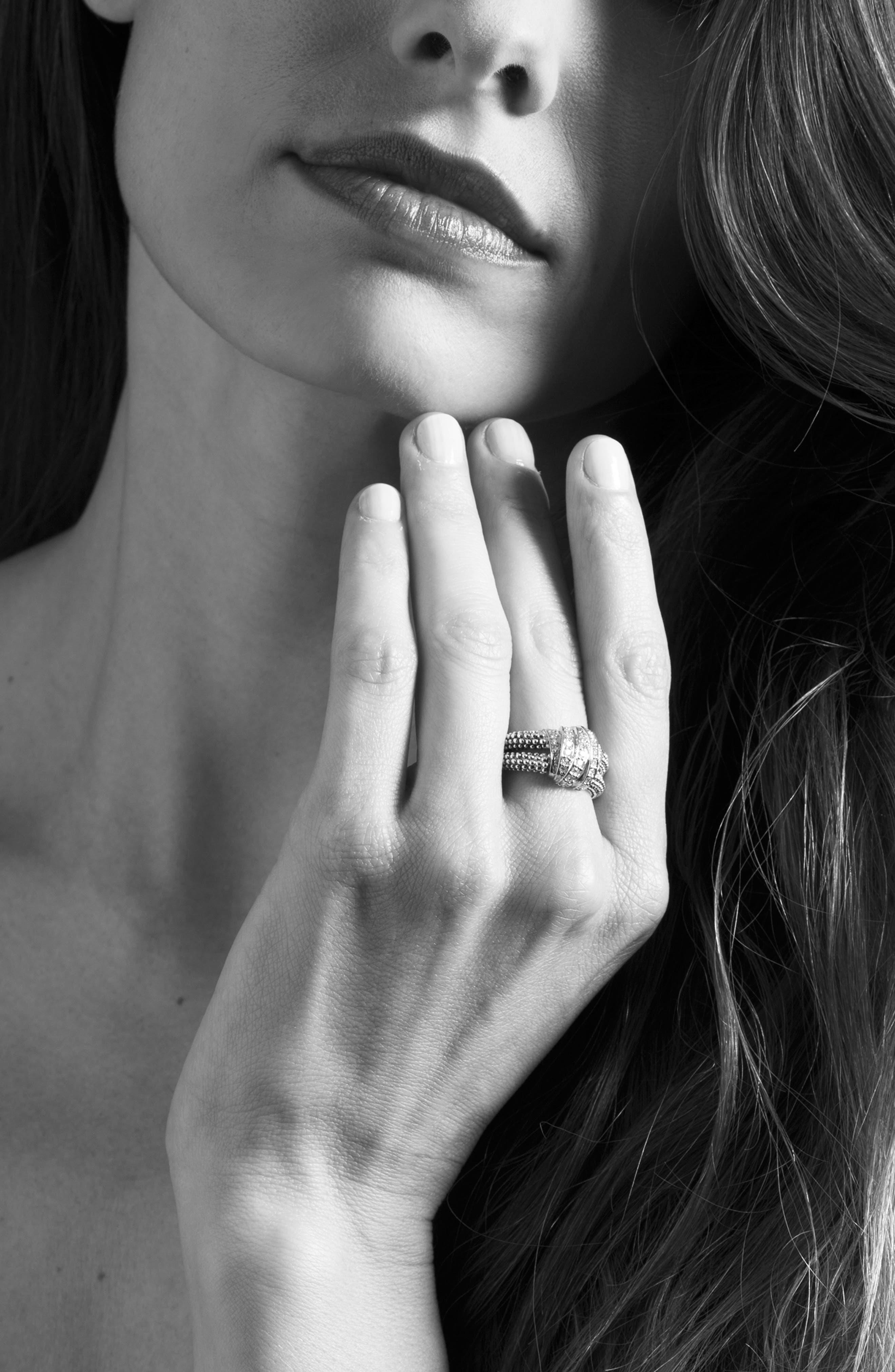'Diamonds & Caviar' Medium Diamond Ring,                             Alternate thumbnail 3, color,                             040