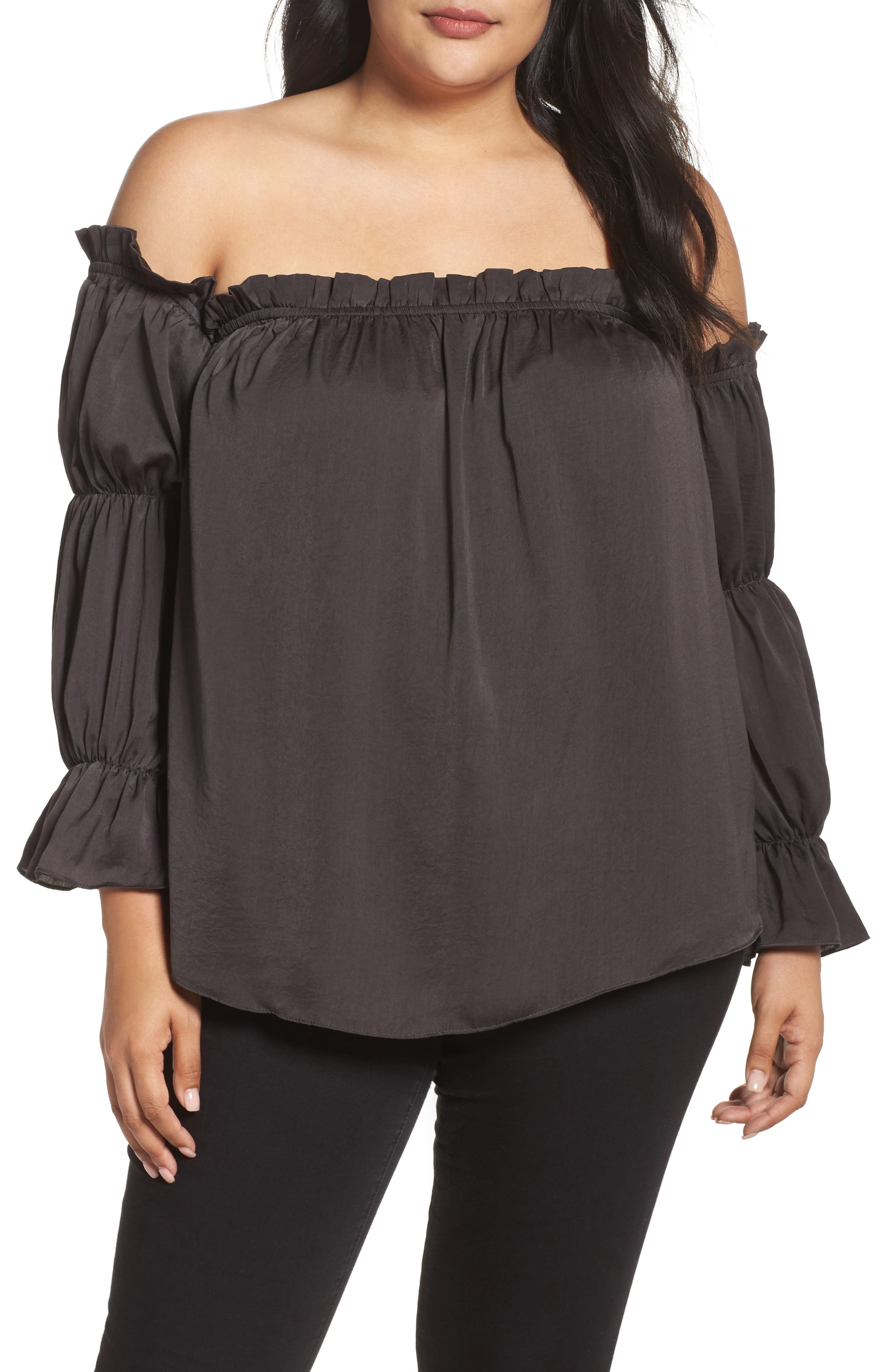 Off the Shoulder Puff Sleeve Top,                             Main thumbnail 1, color,                             020