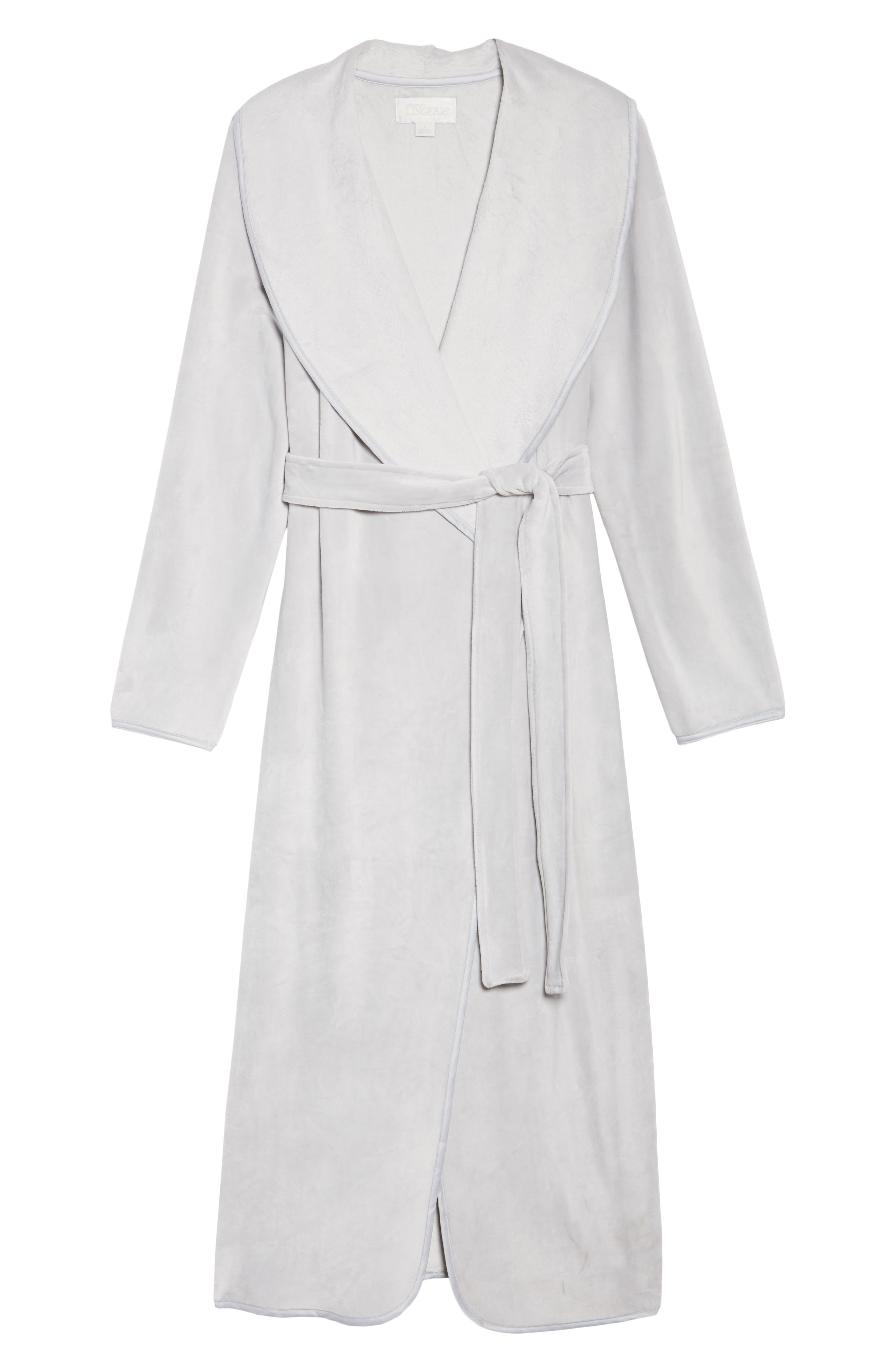 Luxe Shawl Robe,                             Alternate thumbnail 6, color,                             050