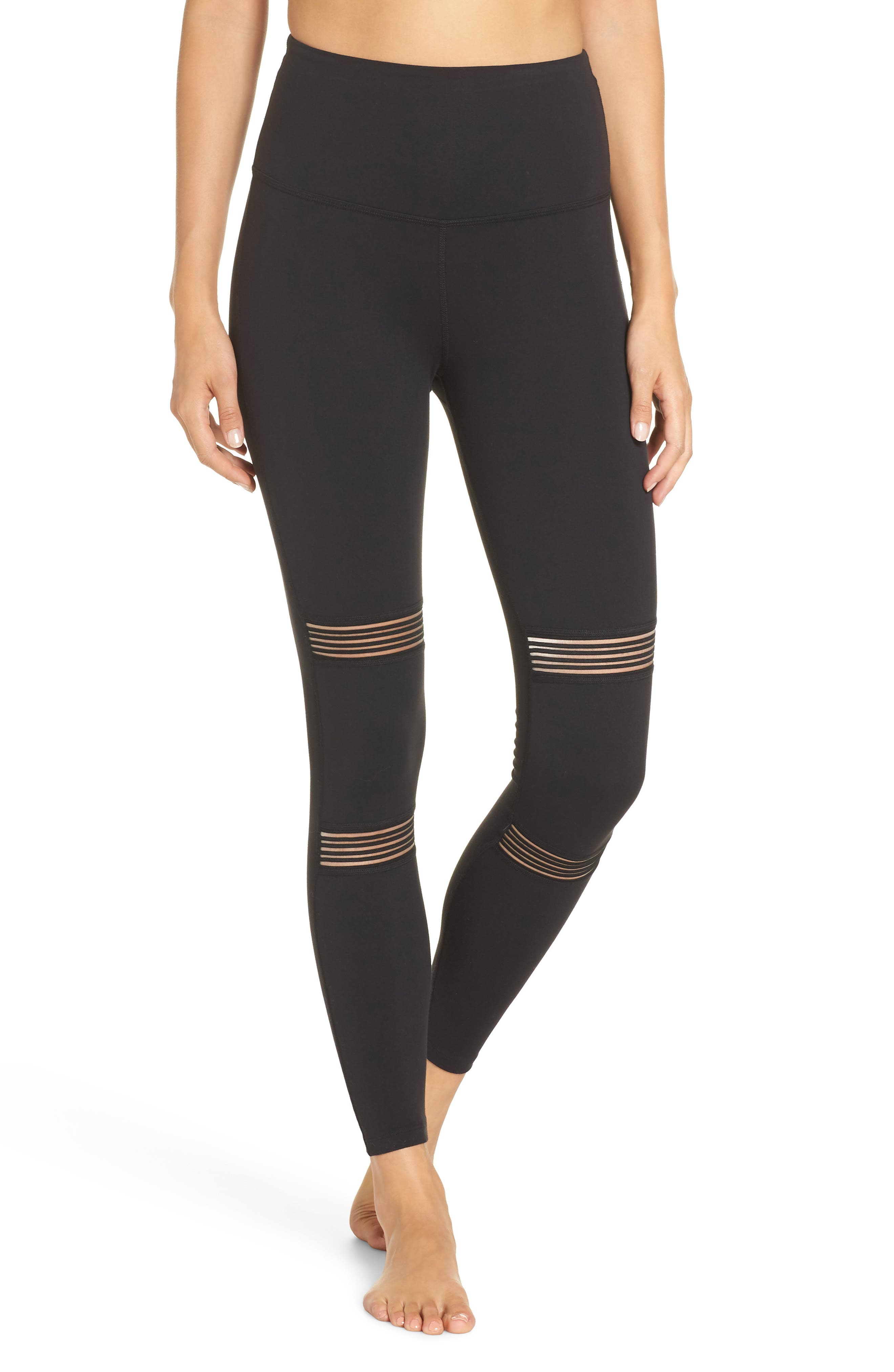Mirage High Waisted Legging,                             Main thumbnail 1, color,                             JET BLACK