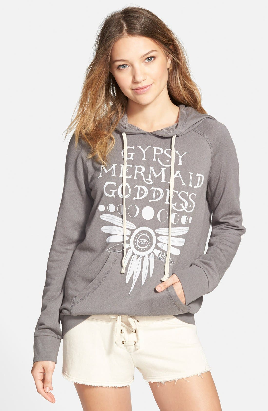 'Gypsy Goddess' Graphic Hoodie,                         Main,                         color, 020