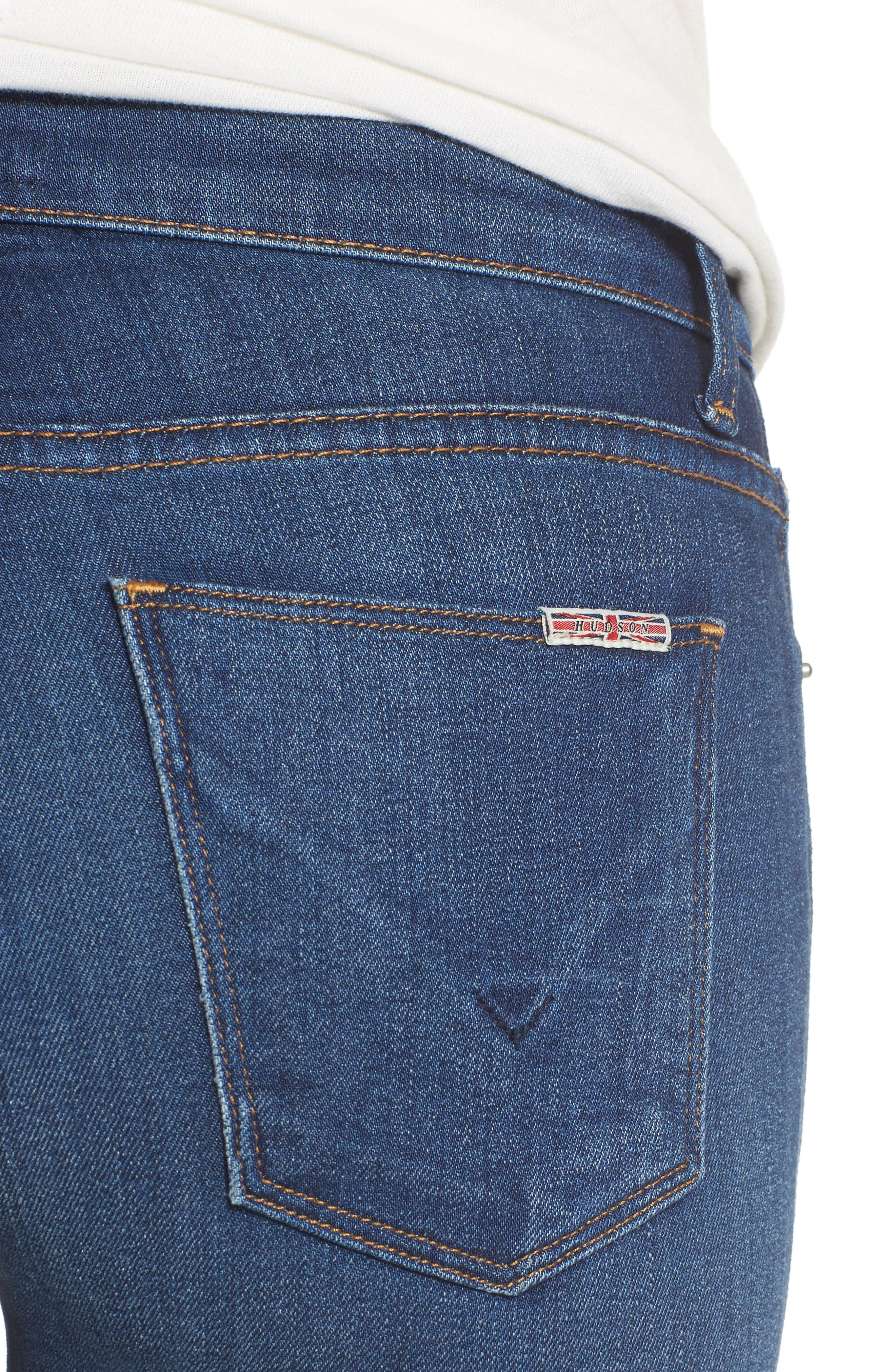 Hudson Nico Mid Rise Super Skinny Jeans,                             Alternate thumbnail 4, color,                             420