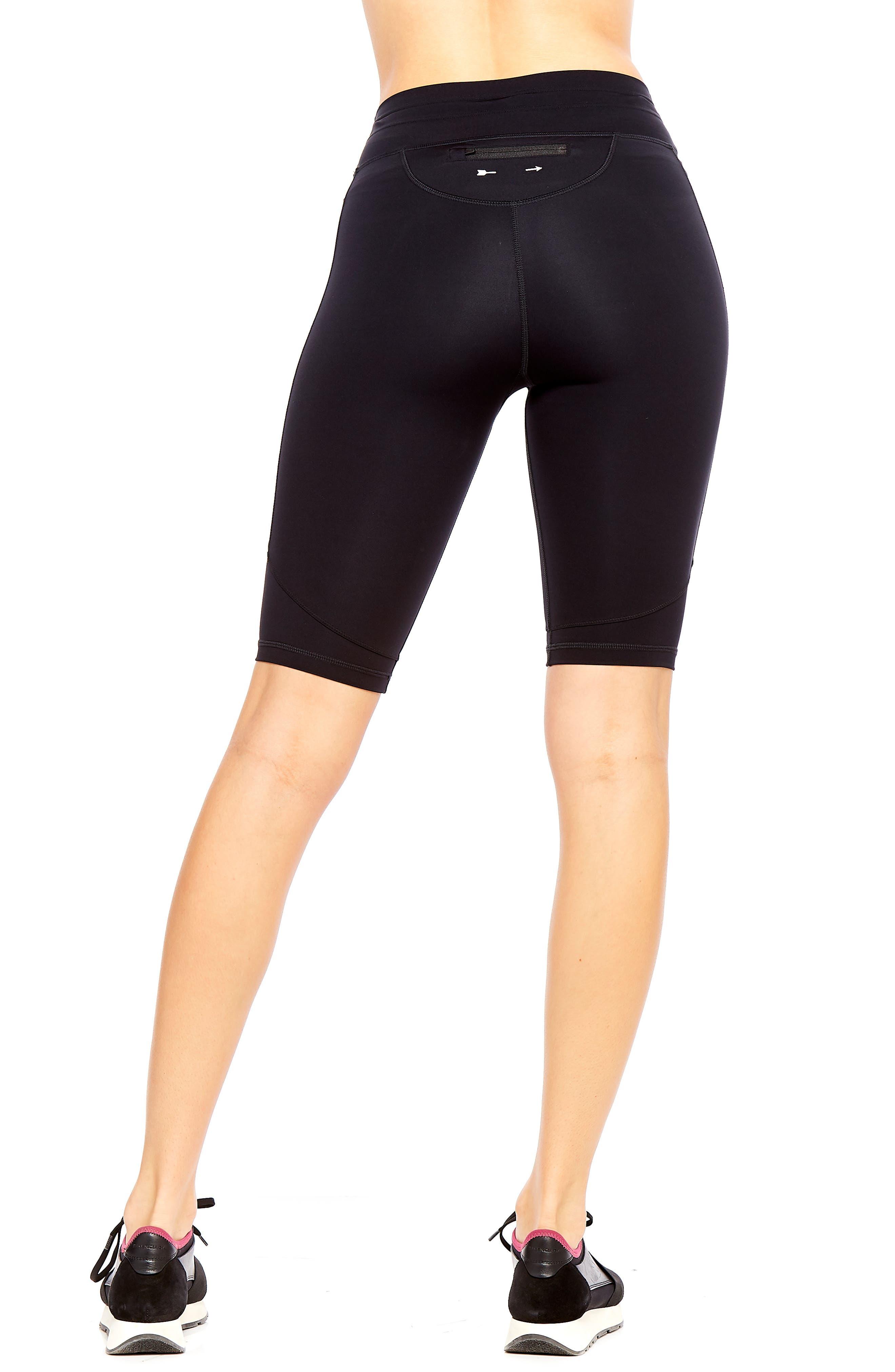 Matte Spin Biker Shorts,                             Alternate thumbnail 2, color,                             BLACK