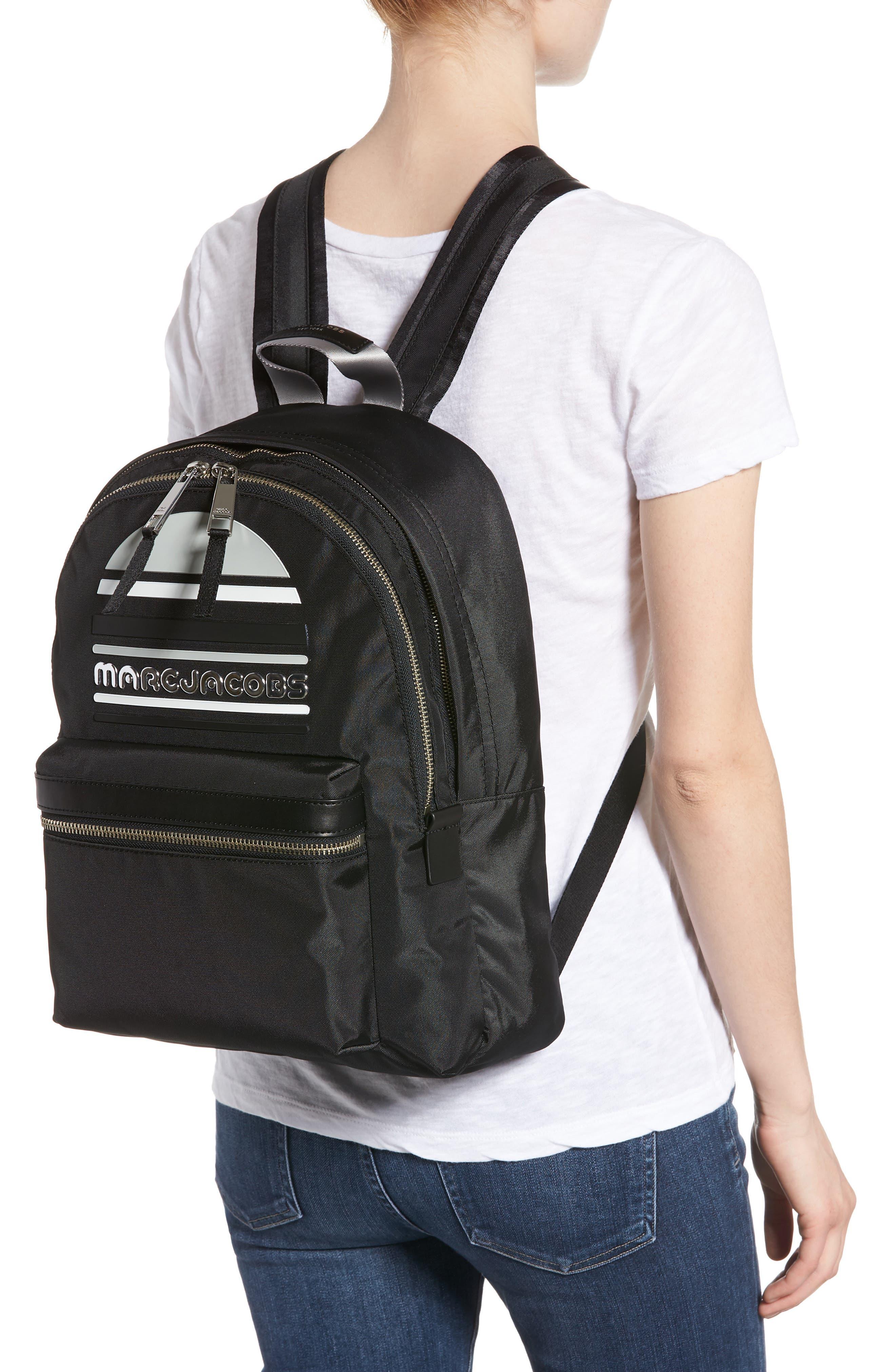 Large Sport Trek Nylon Backpack,                             Alternate thumbnail 2, color,                             BLACK