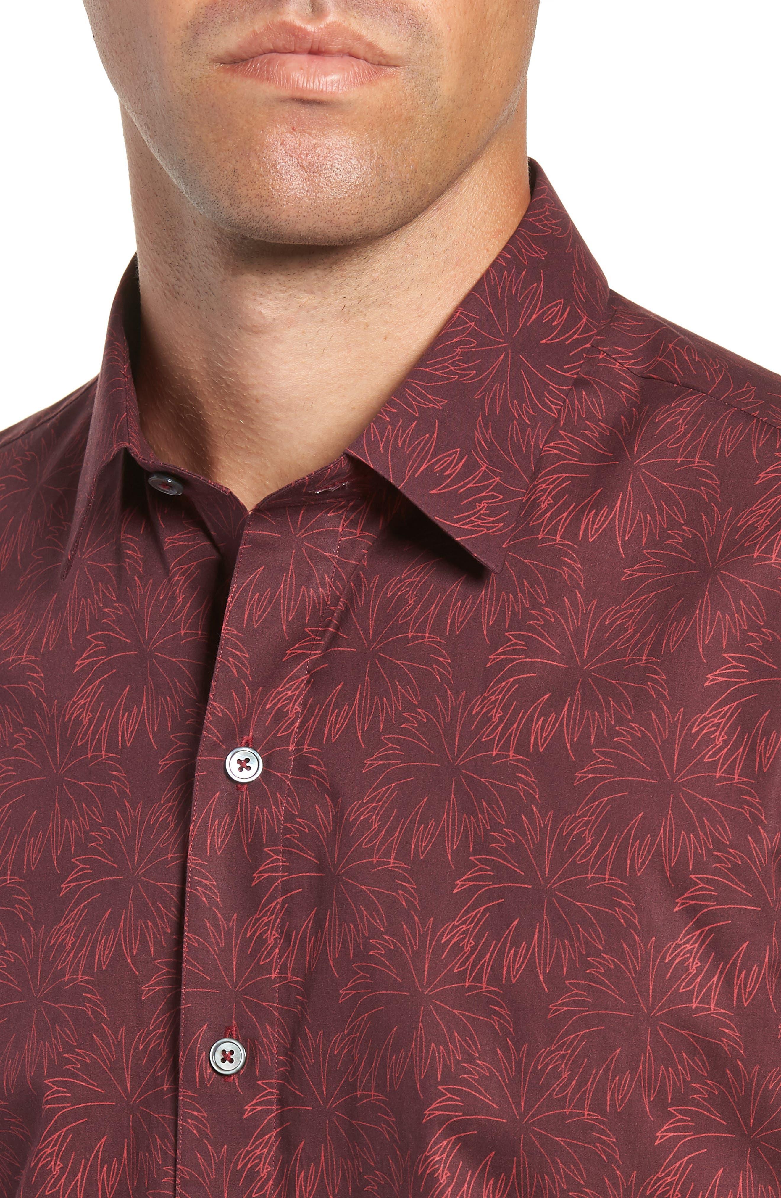 Rinaldi Regular Fit Pattern Sport Shirt,                             Alternate thumbnail 2, color,                             MAROON