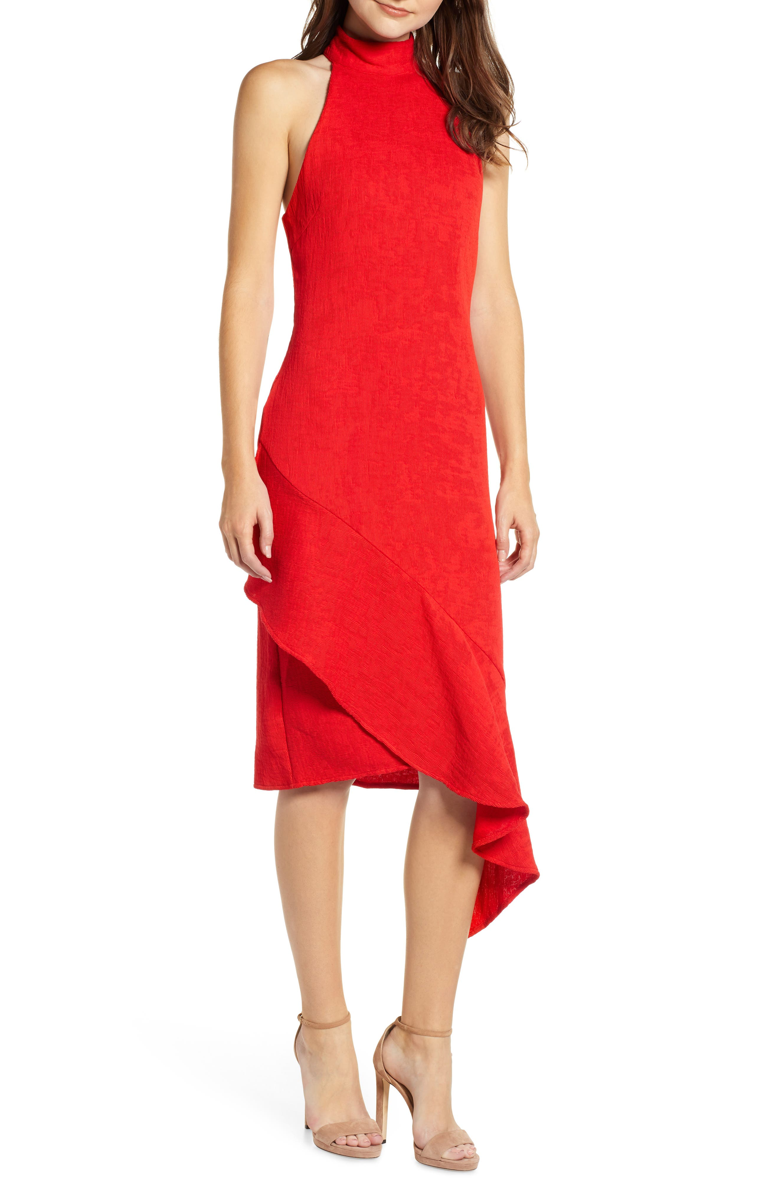 Felice Sleeveless Dress,                         Main,                         color, RED