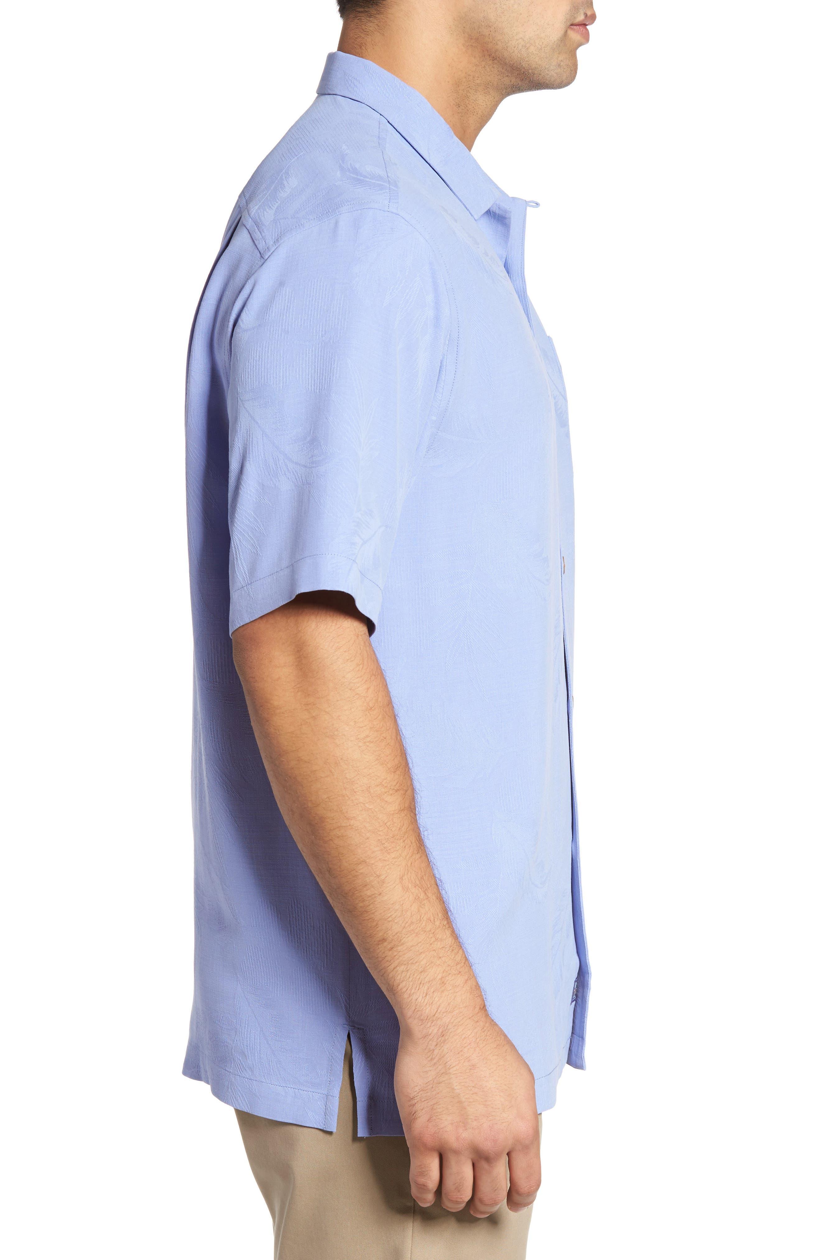 Rio Fronds Short Sleeve Silk Sport Shirt,                             Alternate thumbnail 60, color,