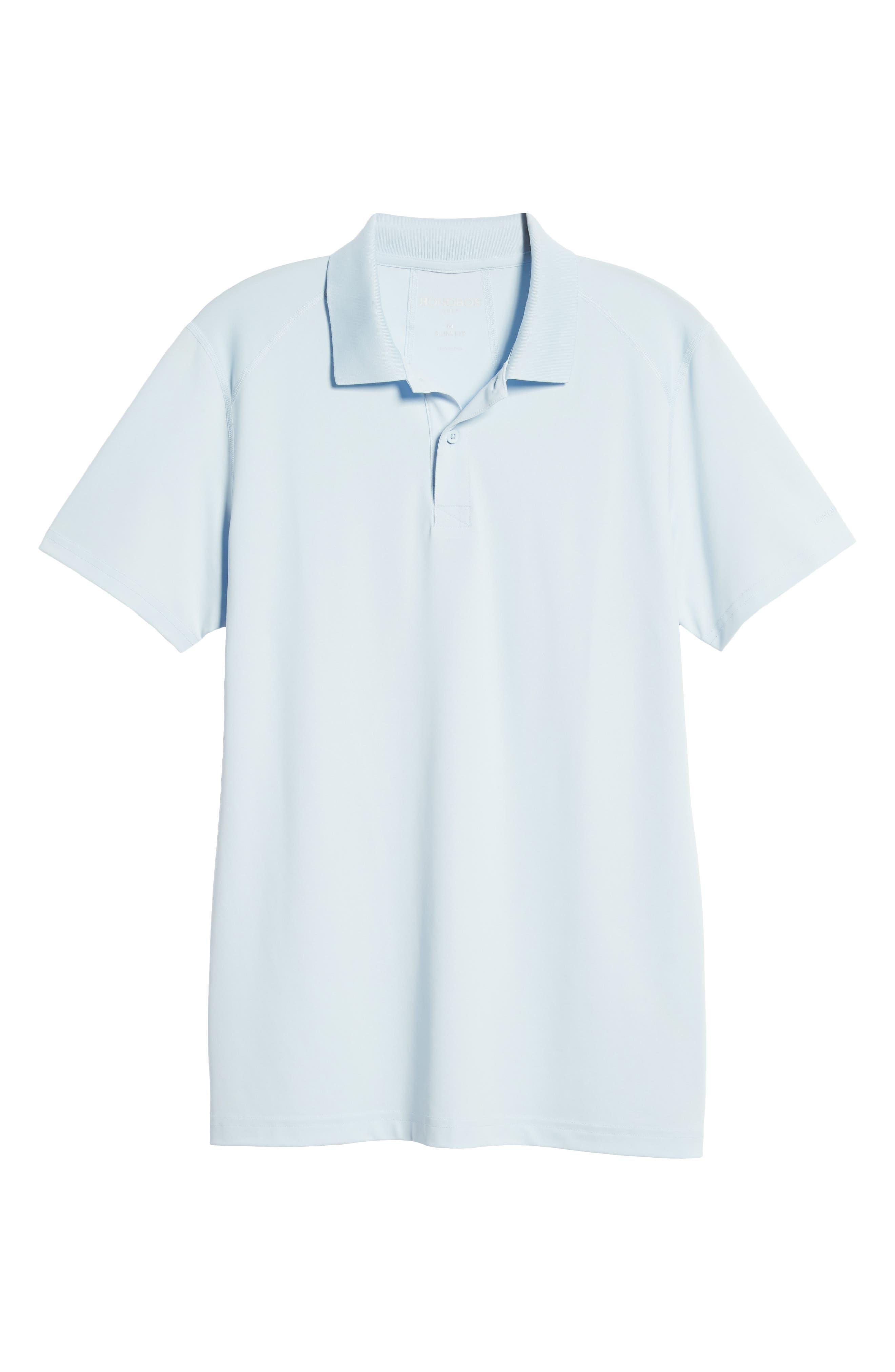M-Flex Flatiron Slim Fit Golf Polo,                             Alternate thumbnail 6, color,                             SKY BLUE