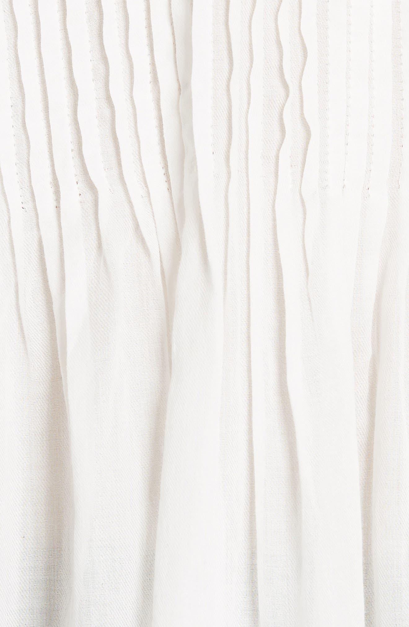 Vonzel Pintuck Cotton Top,                             Alternate thumbnail 5, color,                             120