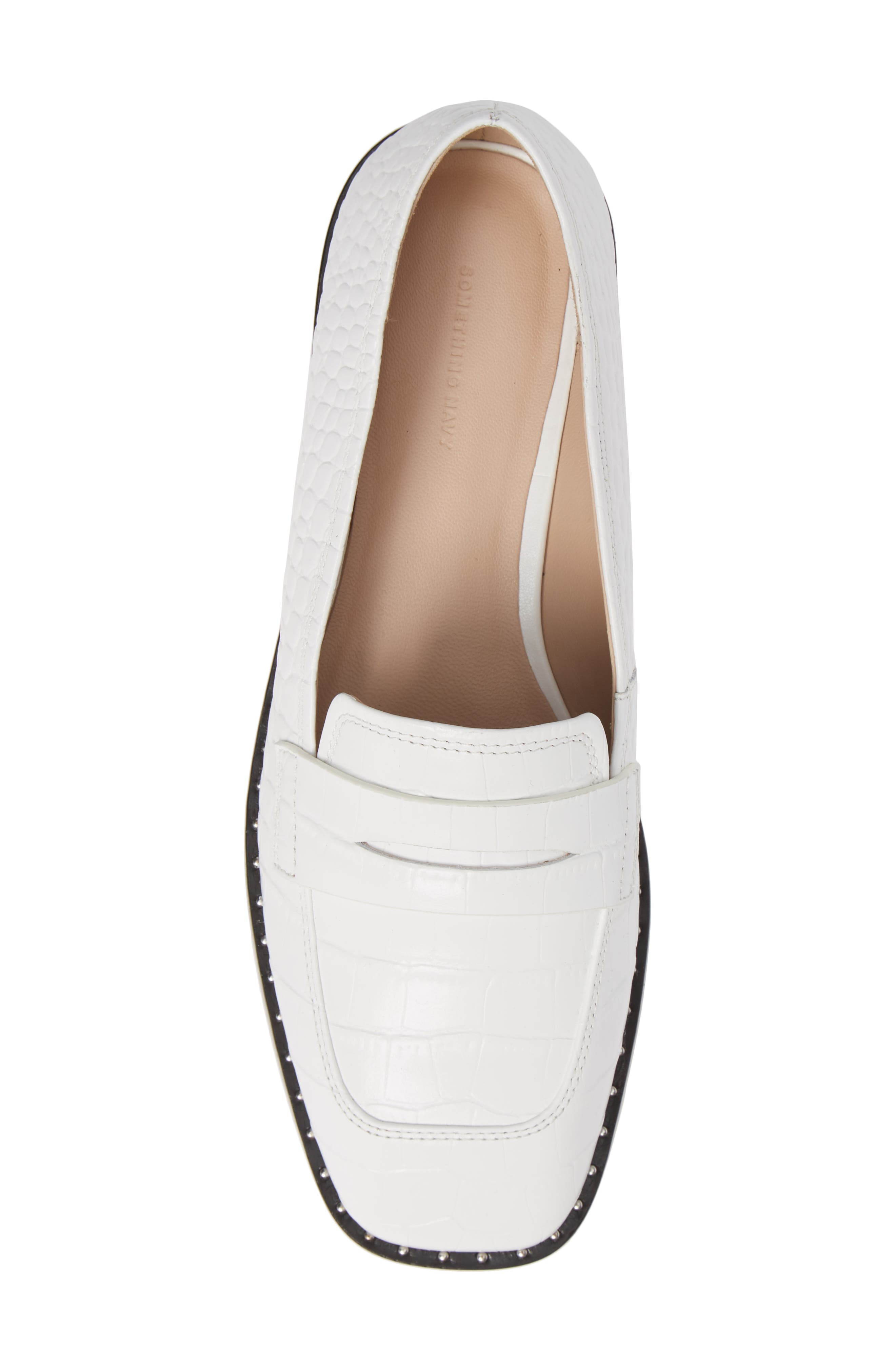 Amado Loafer,                             Alternate thumbnail 5, color,                             WHITE EMBOSSED CROCO LEATHER