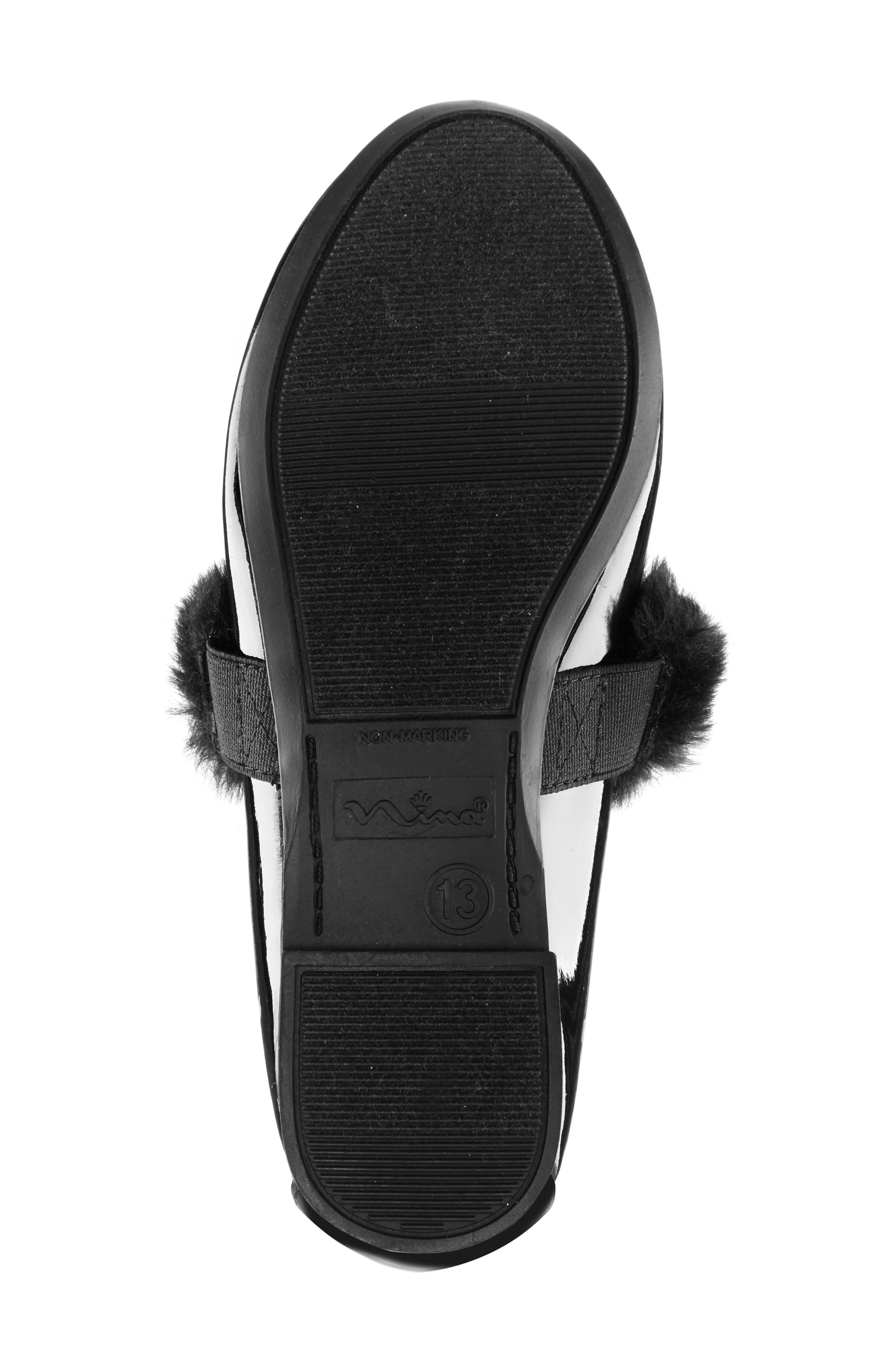 Silvia Mary Jane with Faux Fur Trim,                             Alternate thumbnail 6, color,                             002