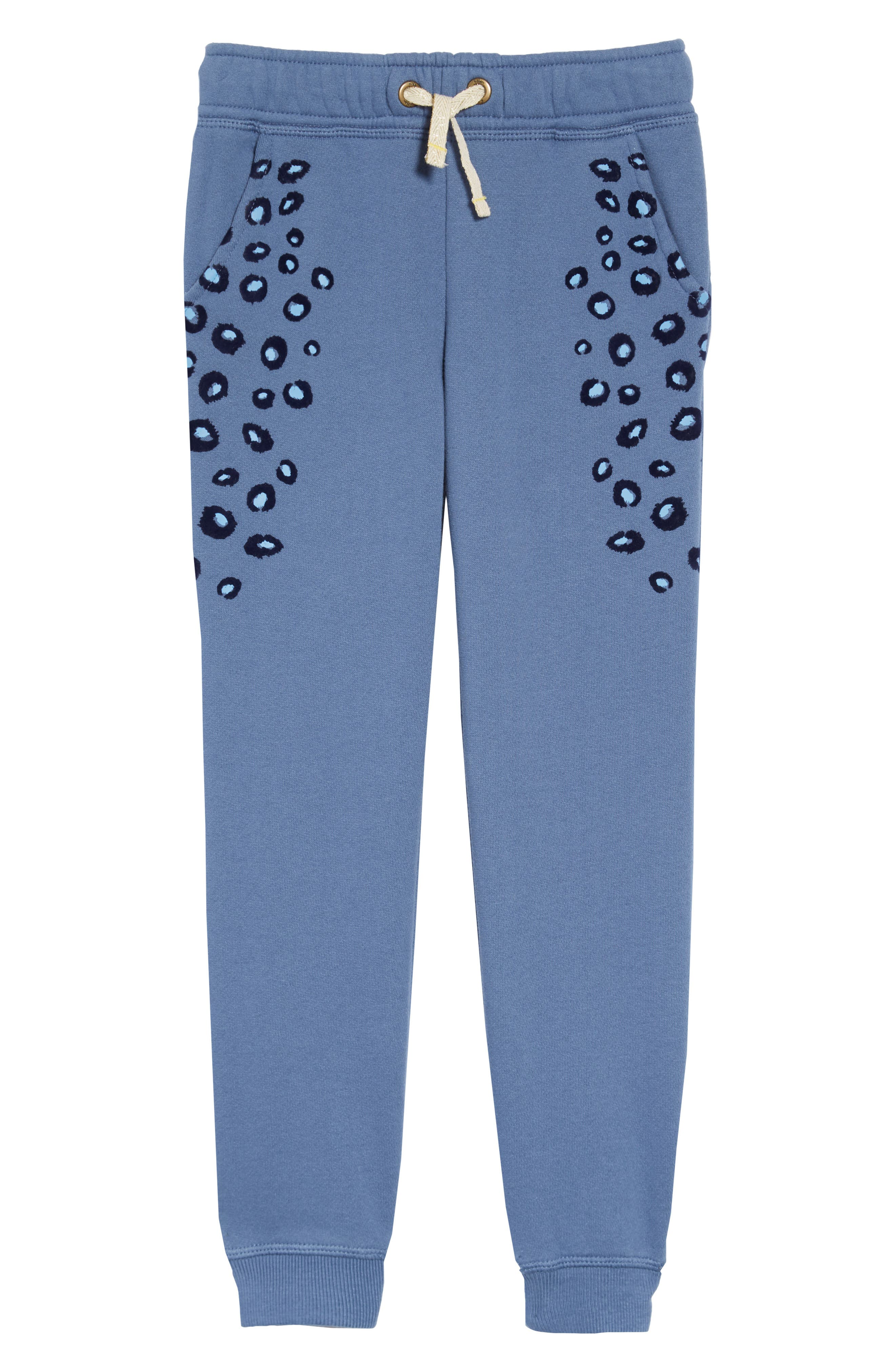 Toddler Girls Mini Boden Side Stripe Sweatpants Size 3Y  Blue