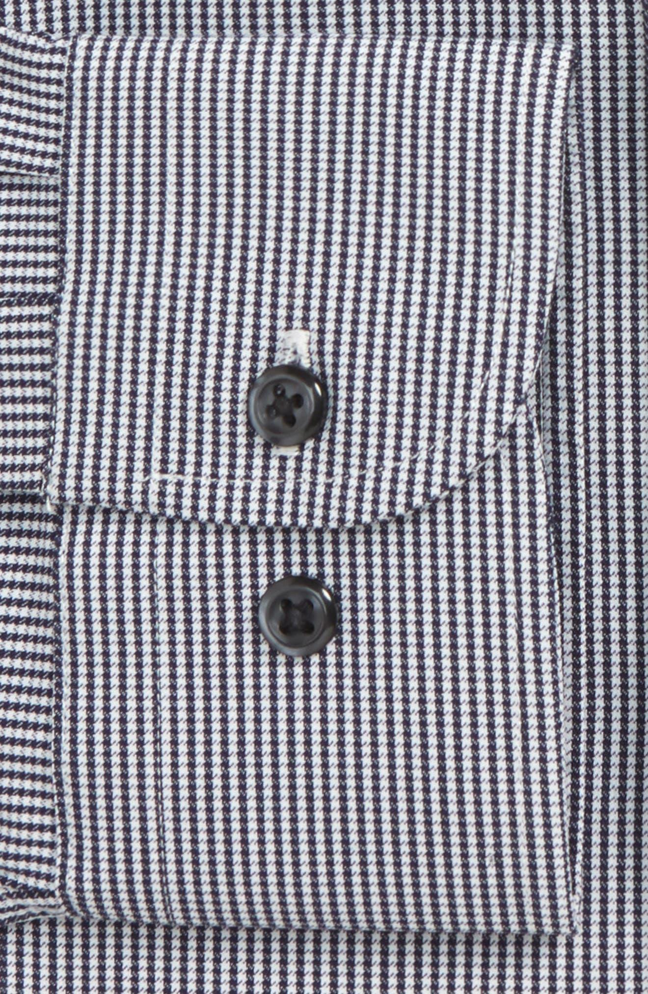 Tech-Smart Trim Fit Houndstooth Dress Shirt,                             Alternate thumbnail 11, color,