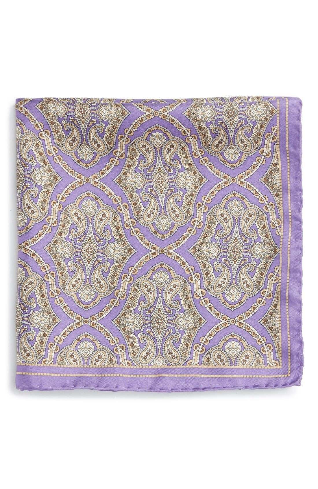 Medallion Silk Pocket Square,                             Main thumbnail 2, color,