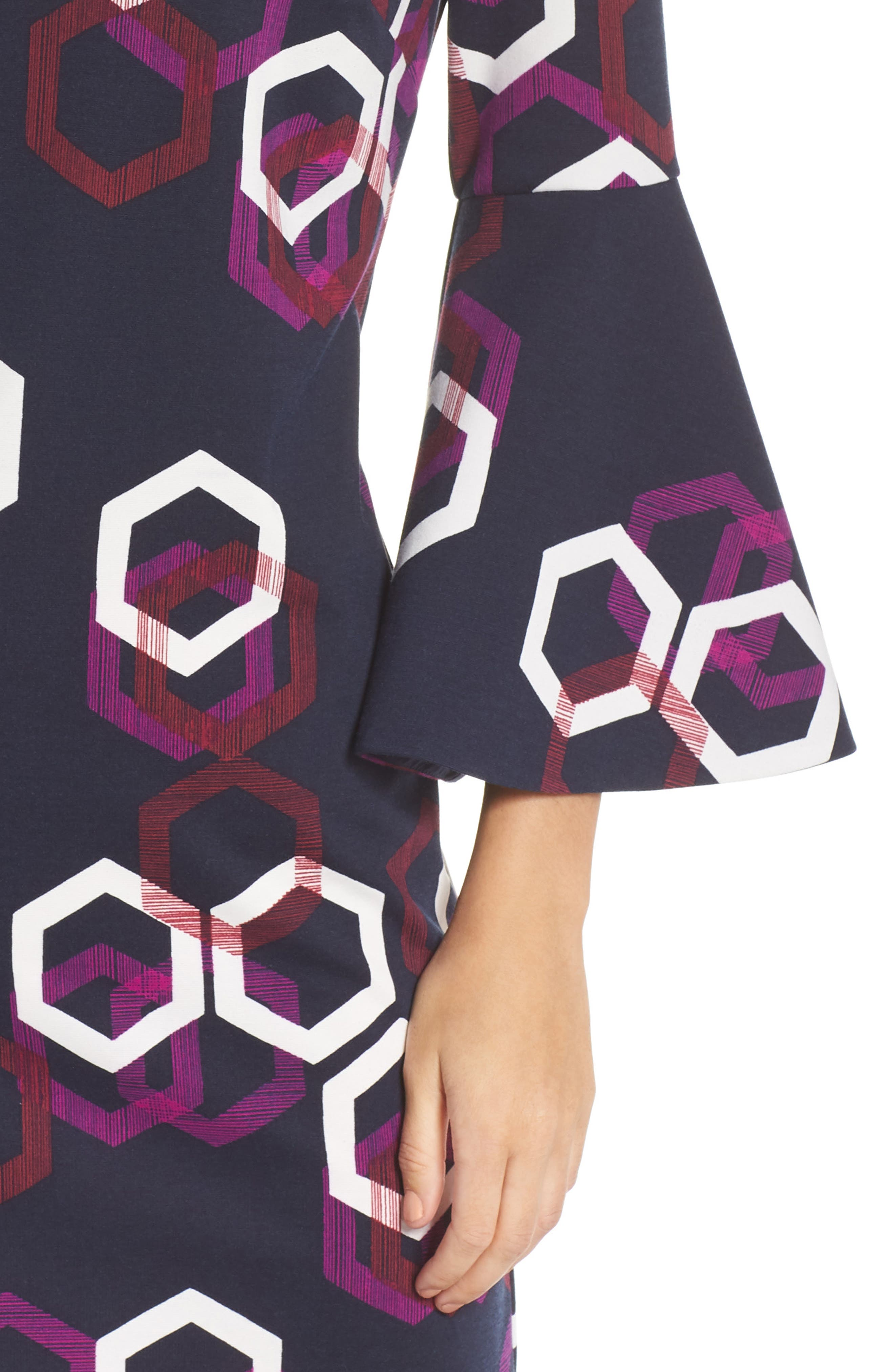 Pali Hexagon Dress,                             Alternate thumbnail 4, color,                             MULTI