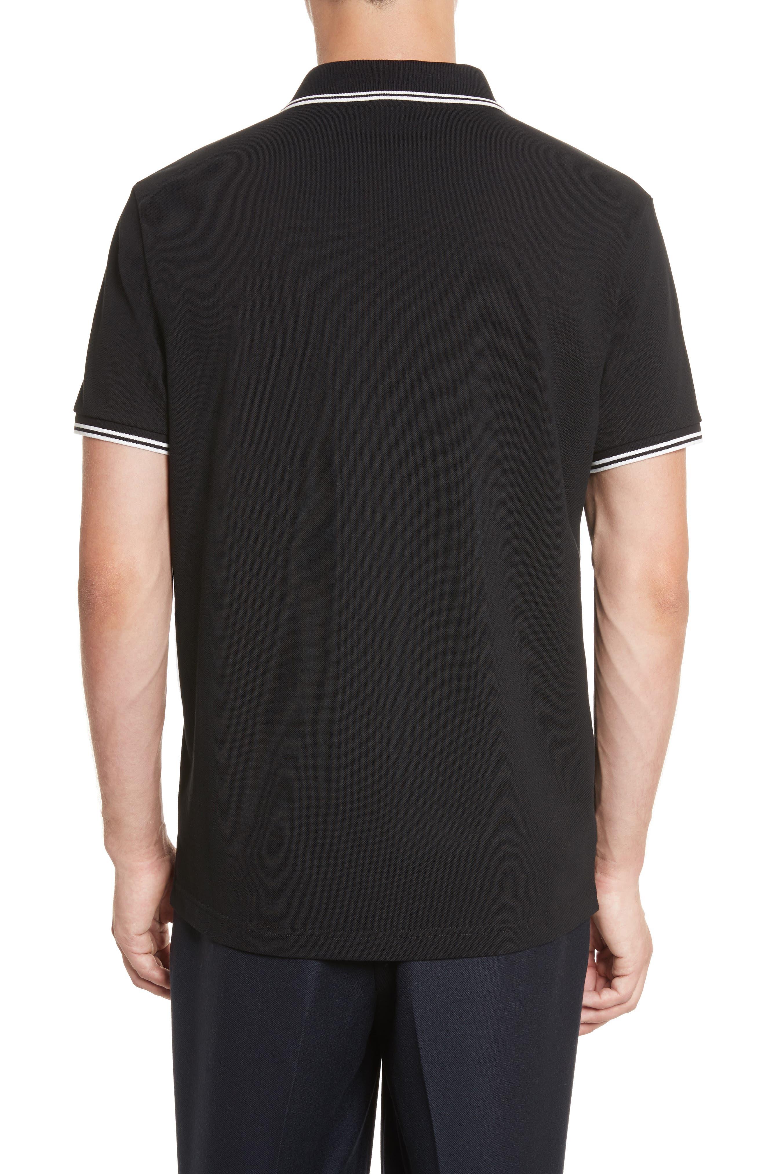 Striped Collar Polo Shirt,                             Alternate thumbnail 2, color,                             001