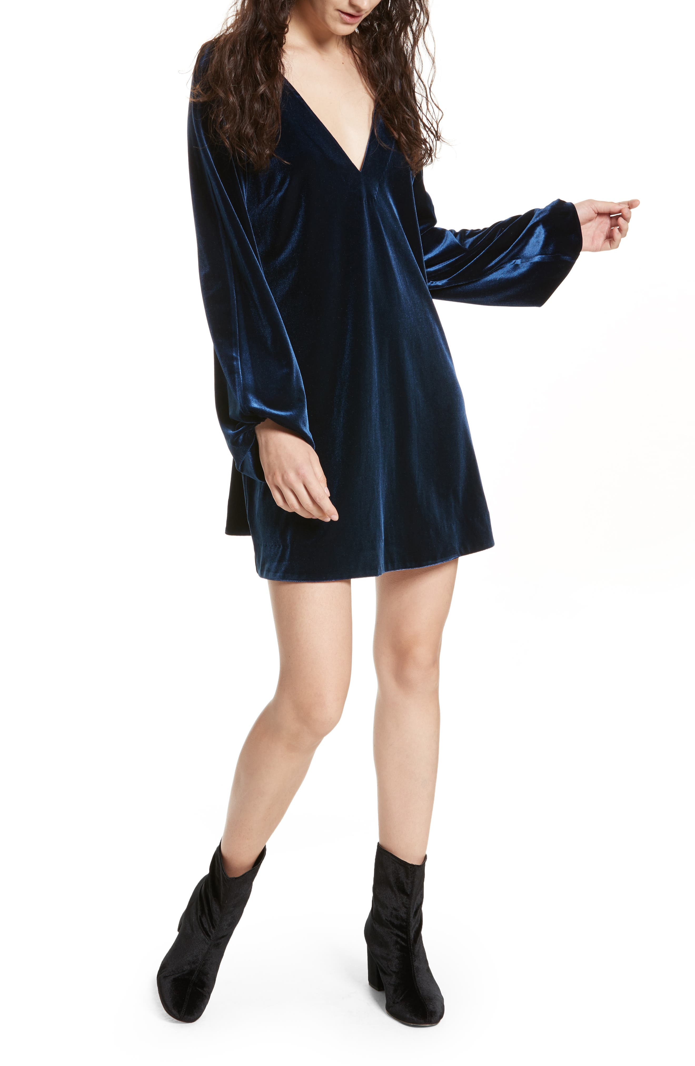 Misha Velvet Minidress,                             Alternate thumbnail 5, color,                             486