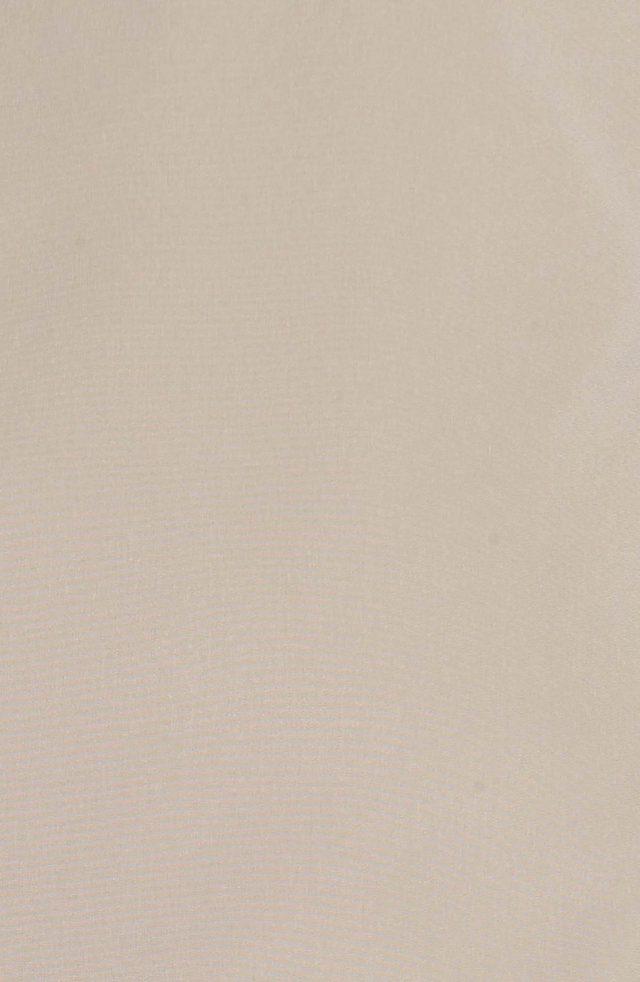 Full Length Two-Tone Silk Look Raincoat,                             Alternate thumbnail 7, color,                             MUSHROOM