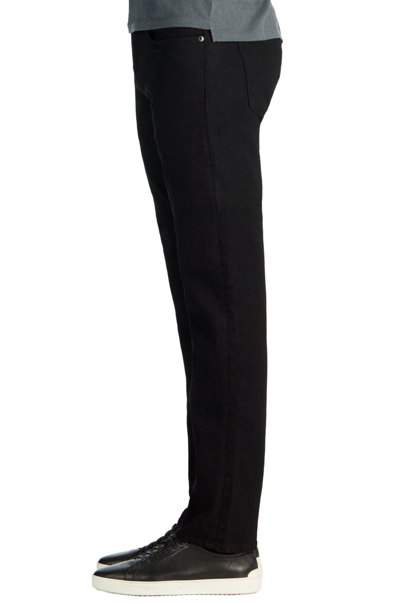 Kane Slim Straight Leg Jeans,                             Alternate thumbnail 4, color,                             TRIVOR BLACK