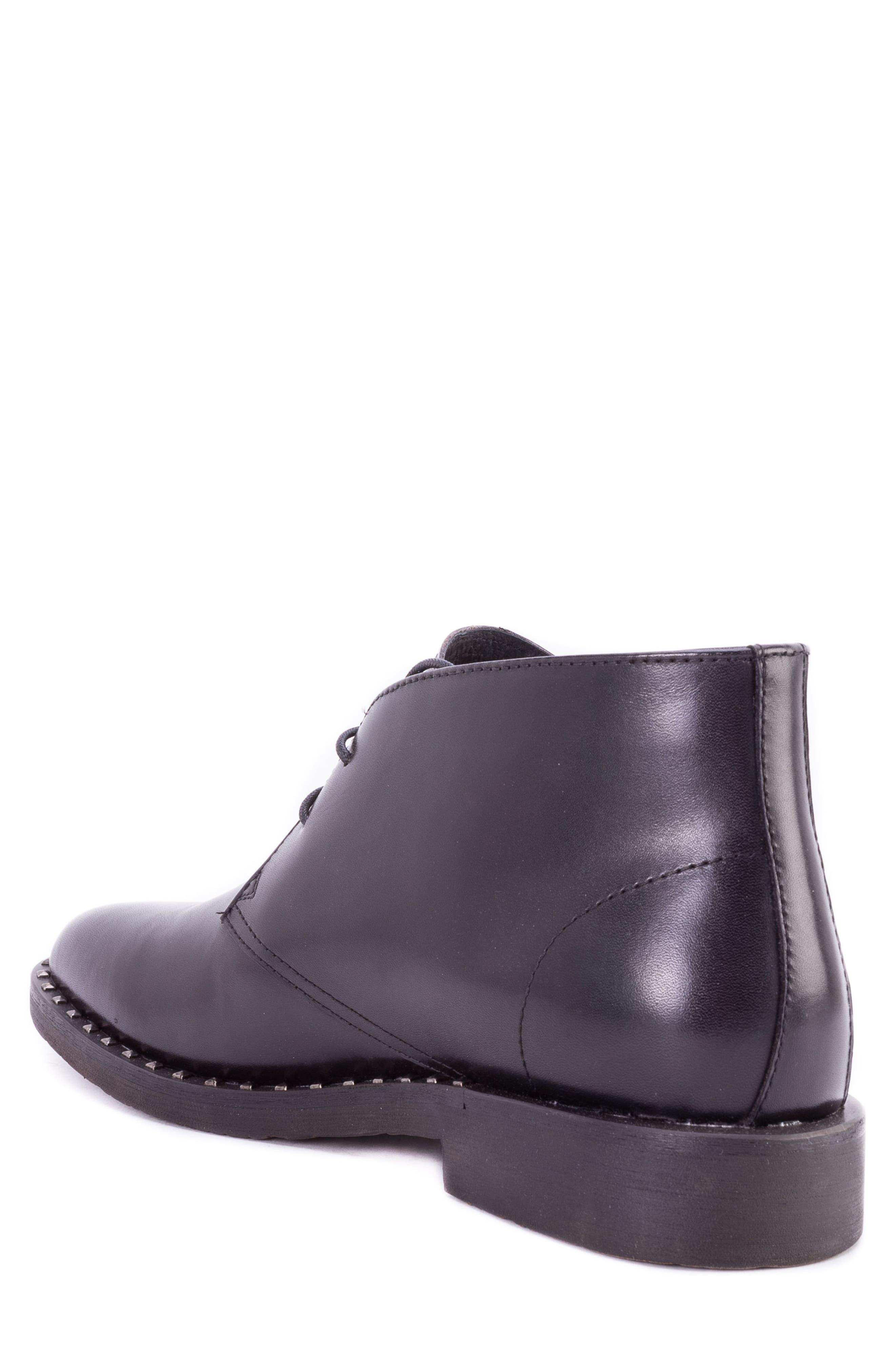Norrie Studded Chukka Boot,                             Alternate thumbnail 2, color,                             BLACK LEATHER