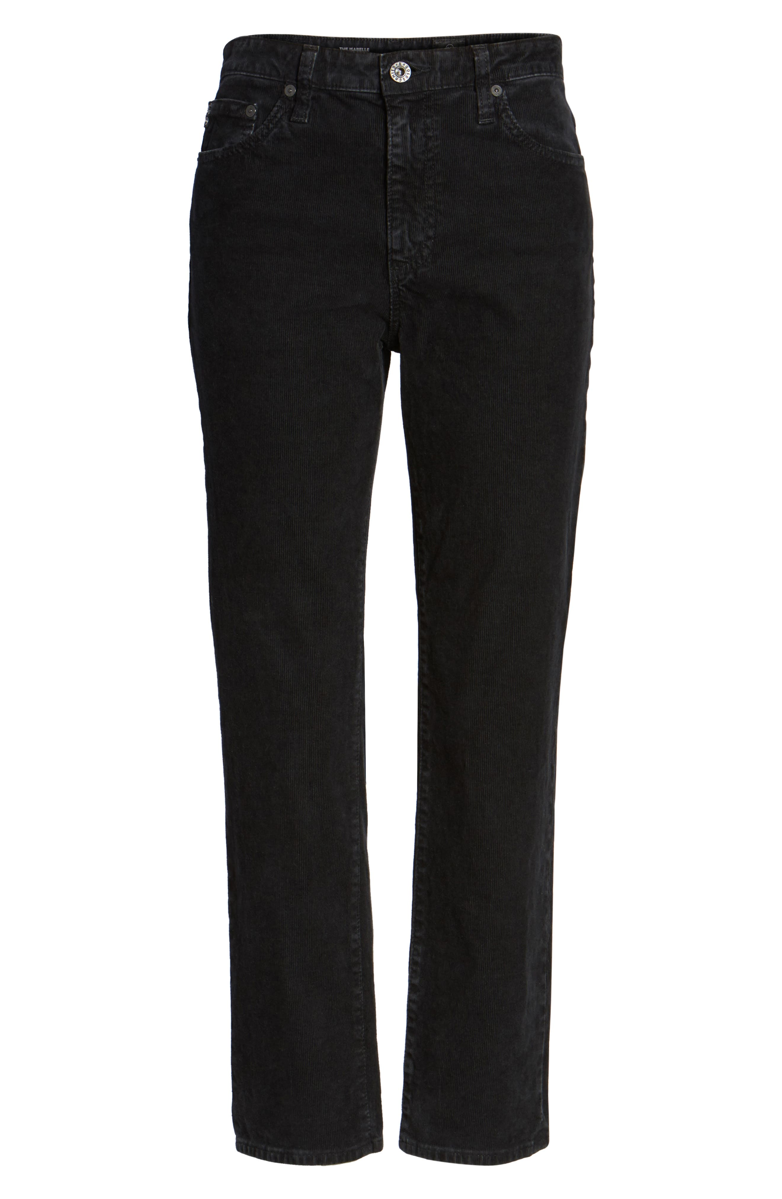 Isabelle High Waist Corduroy Jeans,                             Alternate thumbnail 6, color,