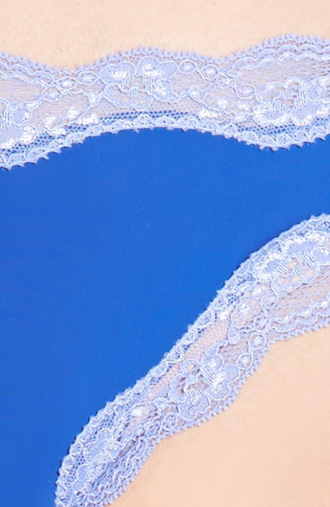 Lace Trim Thong,                             Alternate thumbnail 48, color,