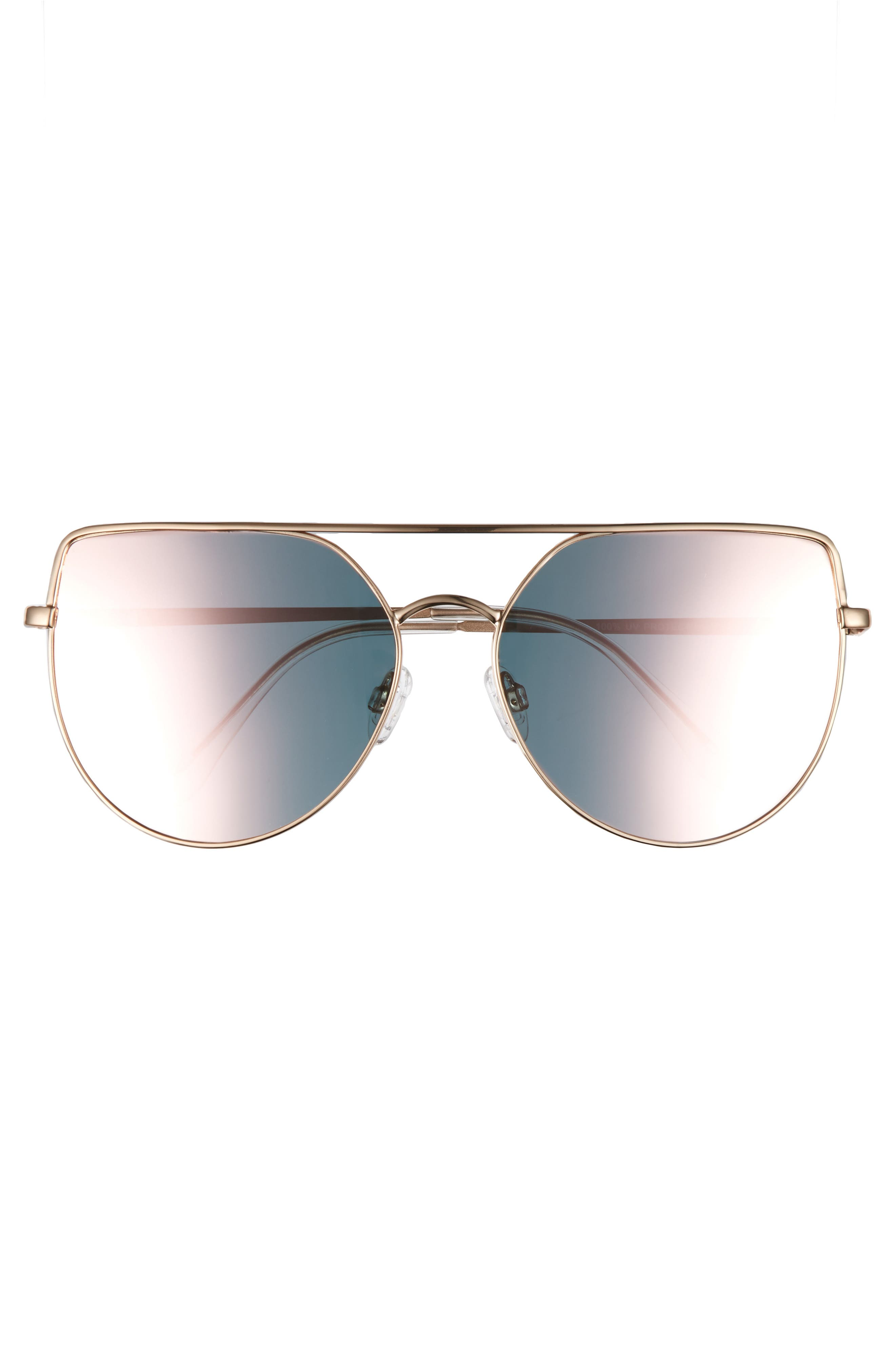 60mm Aviator Sunglasses,                             Alternate thumbnail 6, color,