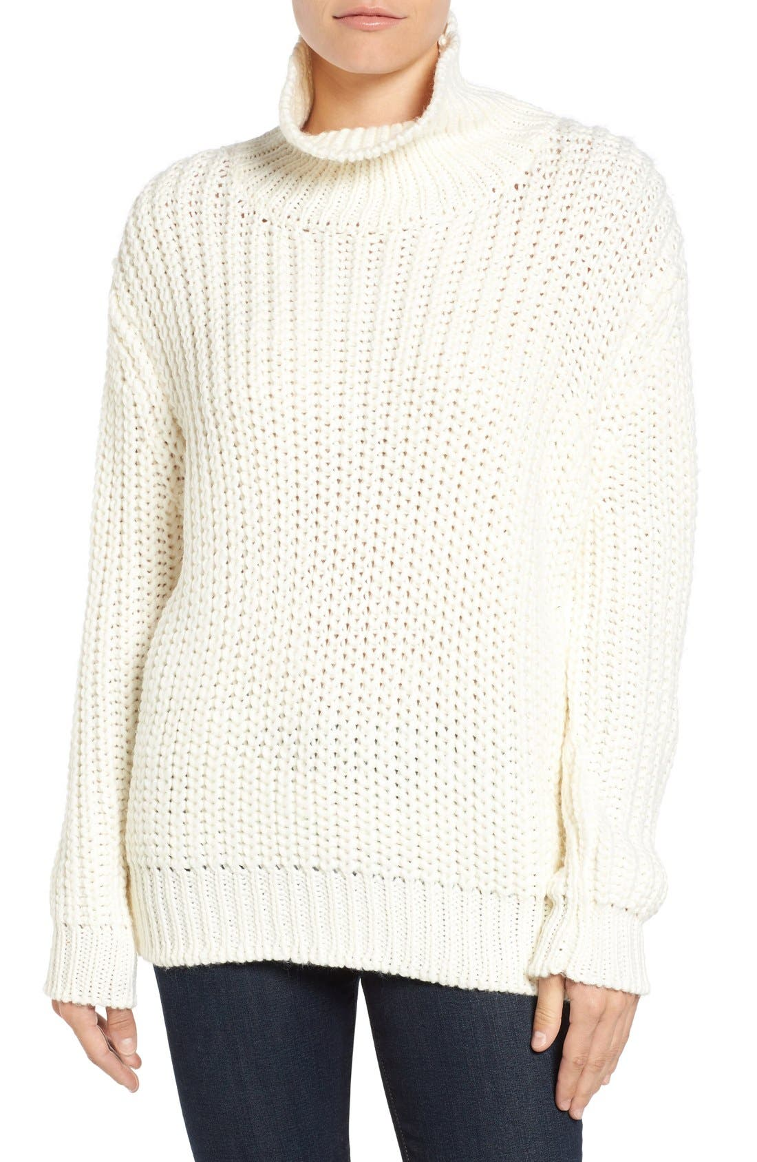Knit Funnel Neck Sweater,                         Main,                         color, 907