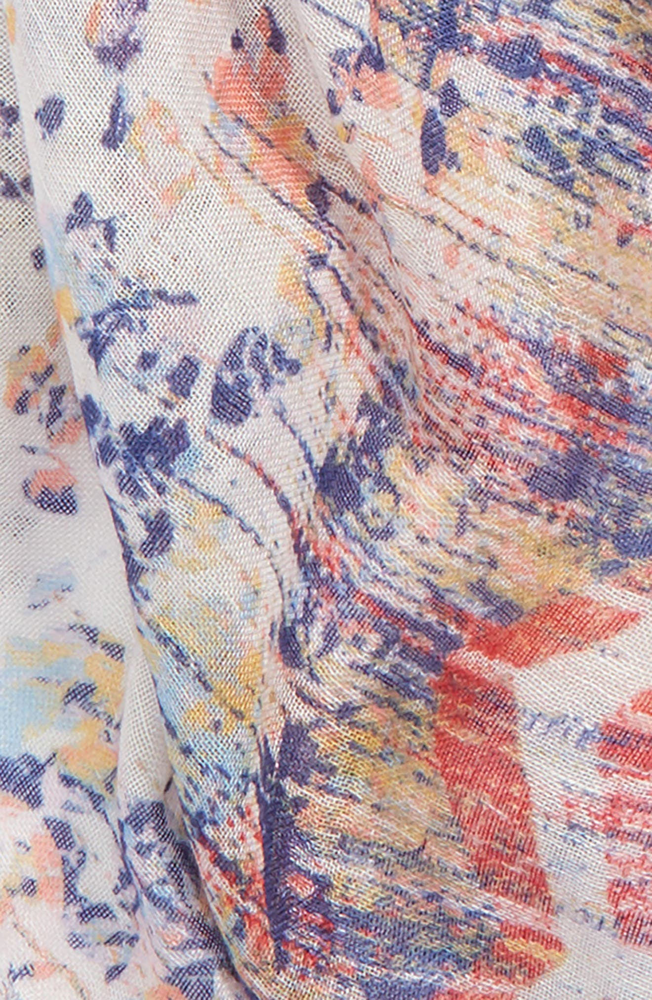 Mixed Print Scarf,                             Alternate thumbnail 4, color,                             100