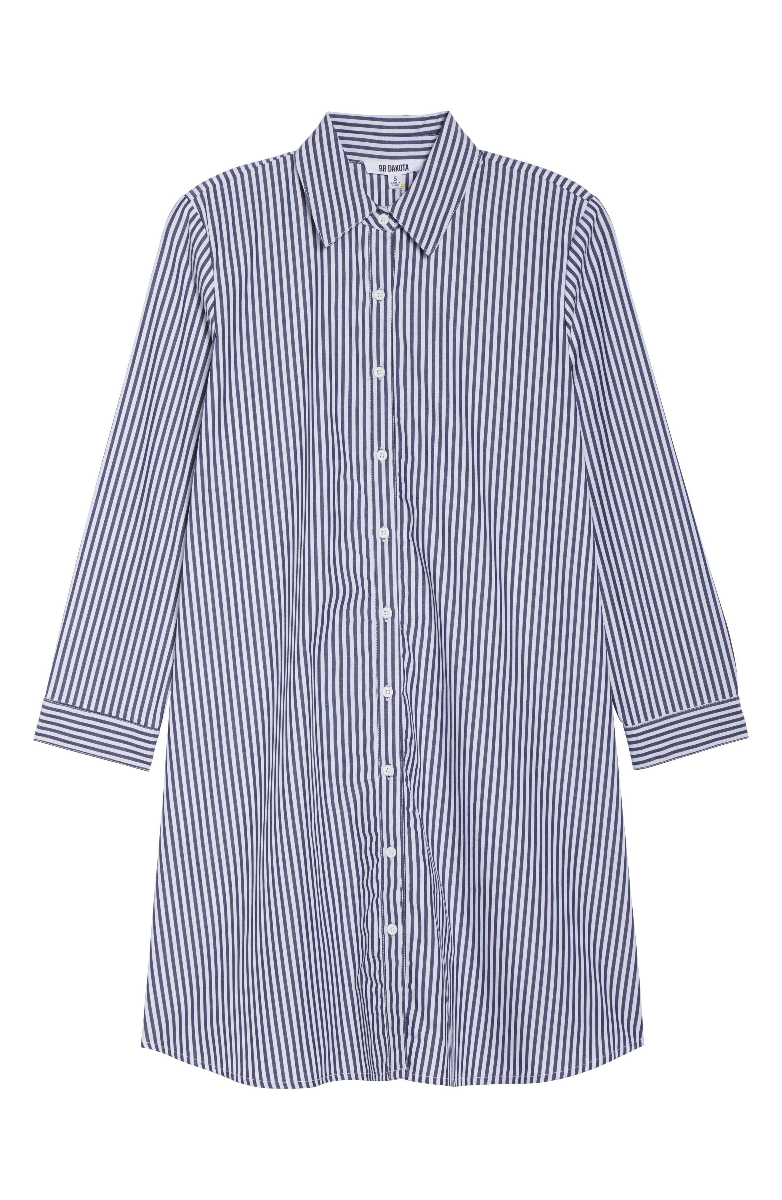Olsen Stripe Shirtdress,                             Alternate thumbnail 6, color,