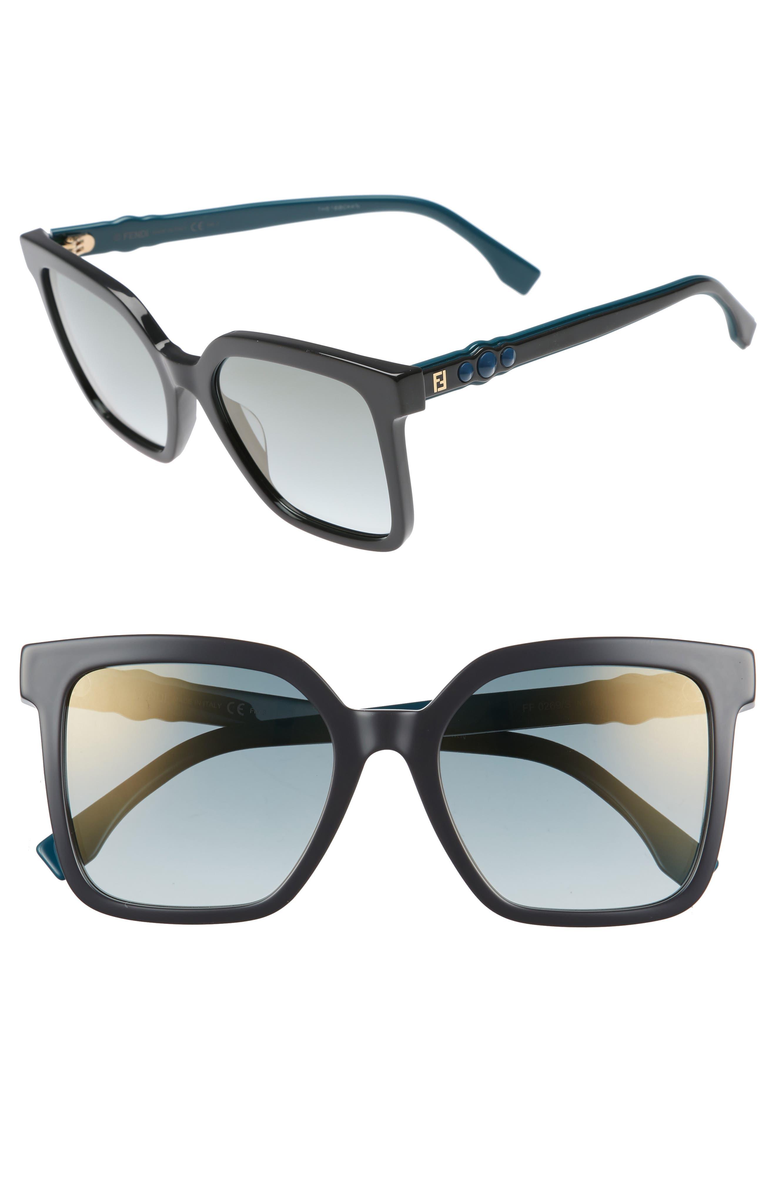 54mm Square Sunglasses,                             Main thumbnail 1, color,                             GREY