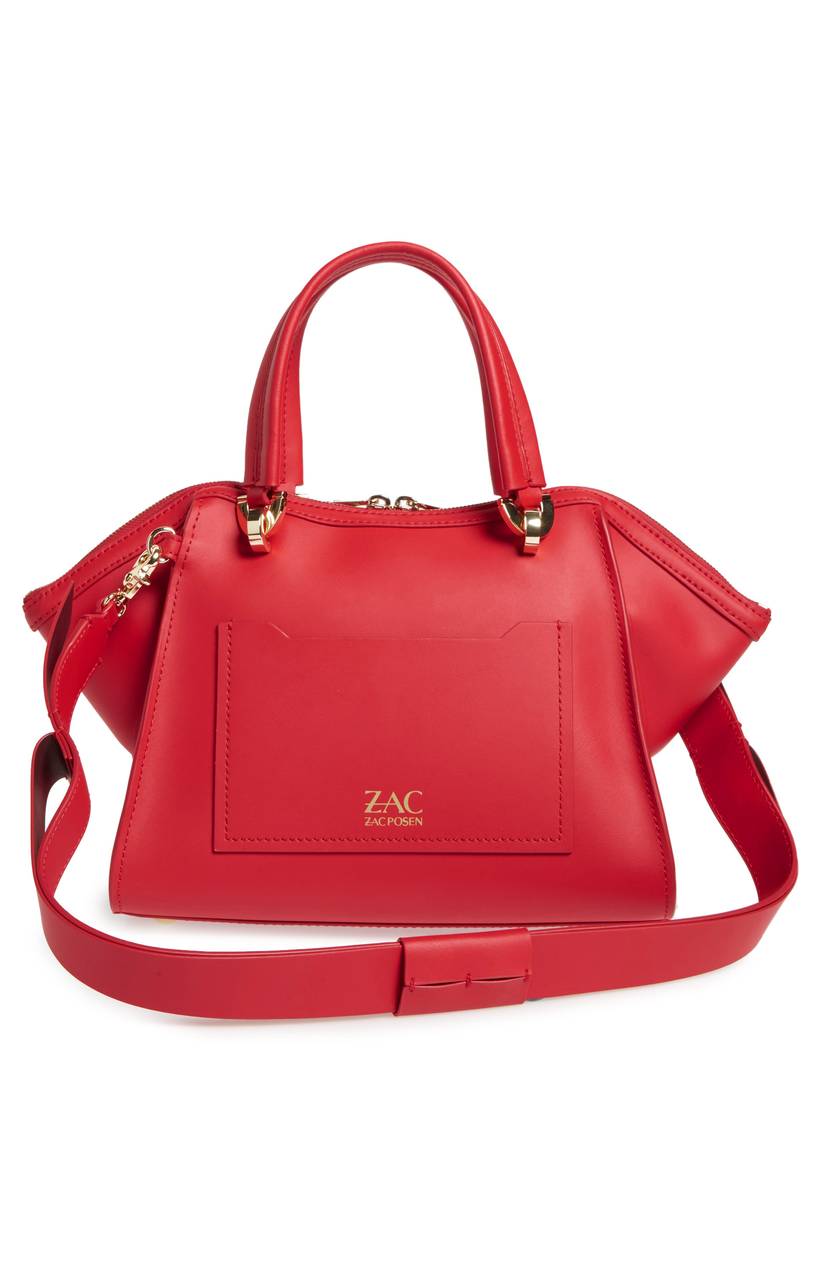 Eartha Iconic Calfskin Leather Double Handle Satchel,                             Alternate thumbnail 5, color,