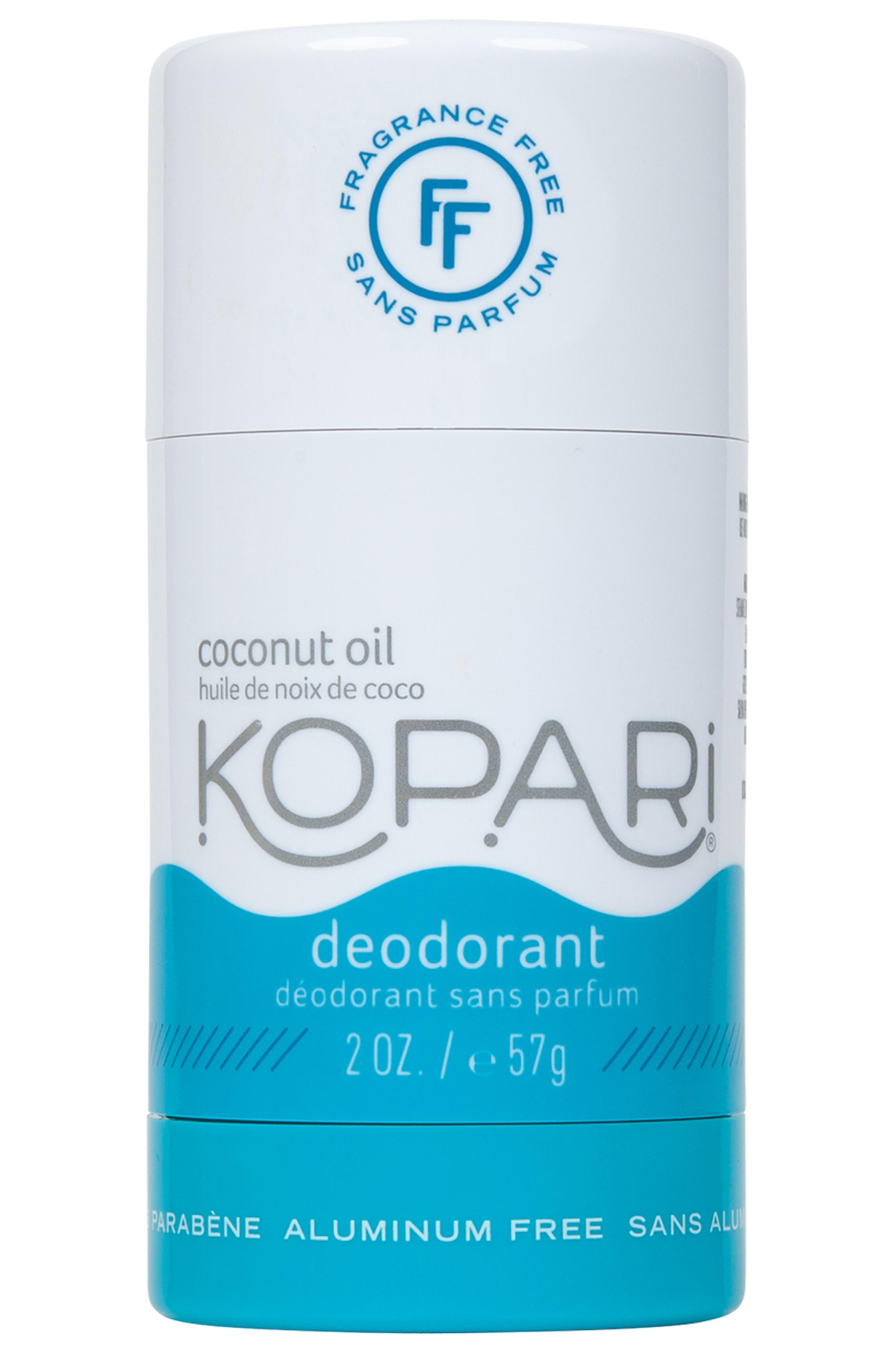 Fragrance Free Coconut Deodorant,                             Main thumbnail 1, color,                             NO COLOR