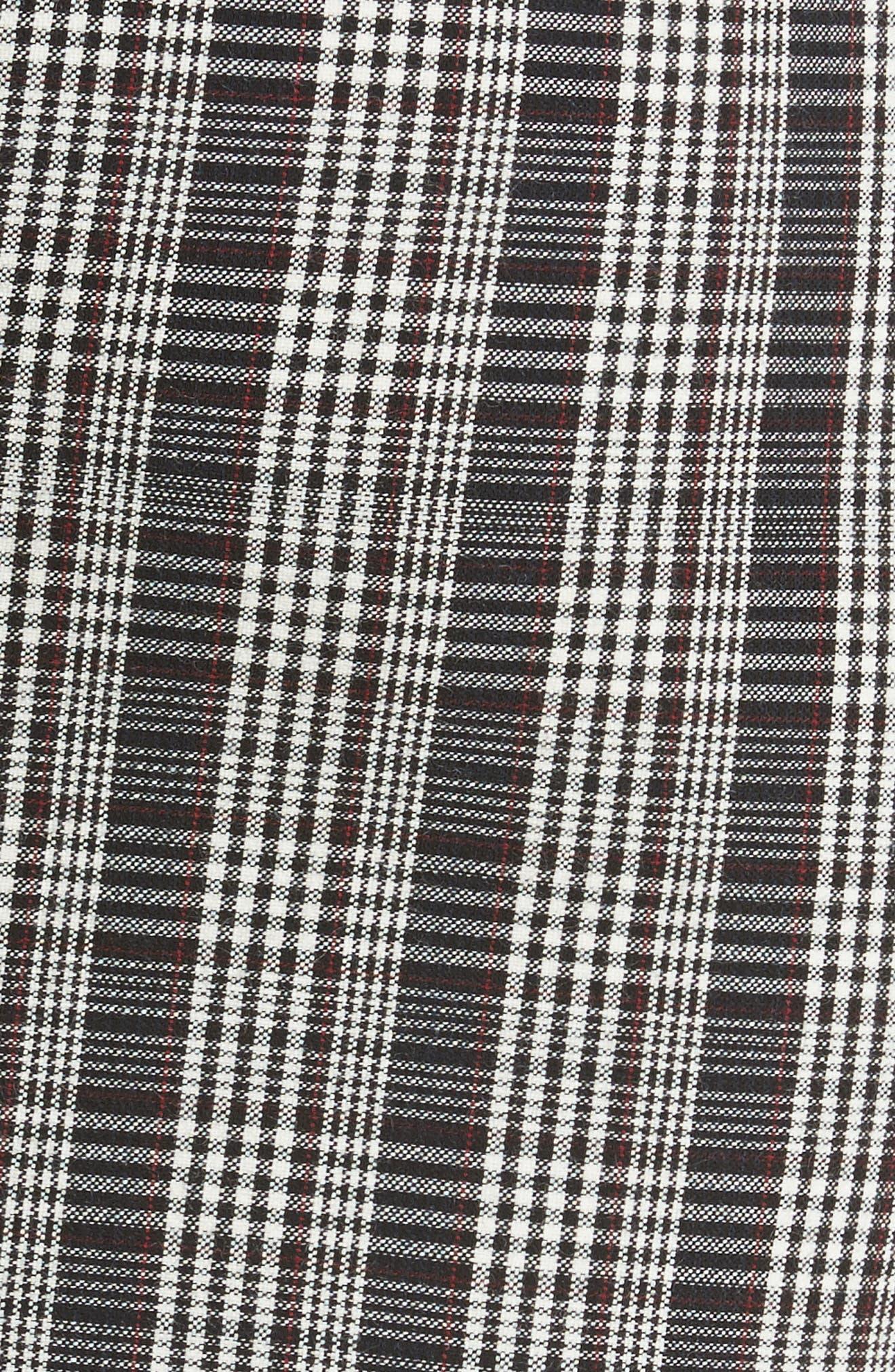 Plaid Curve Cami Dress,                             Alternate thumbnail 5, color,                             001
