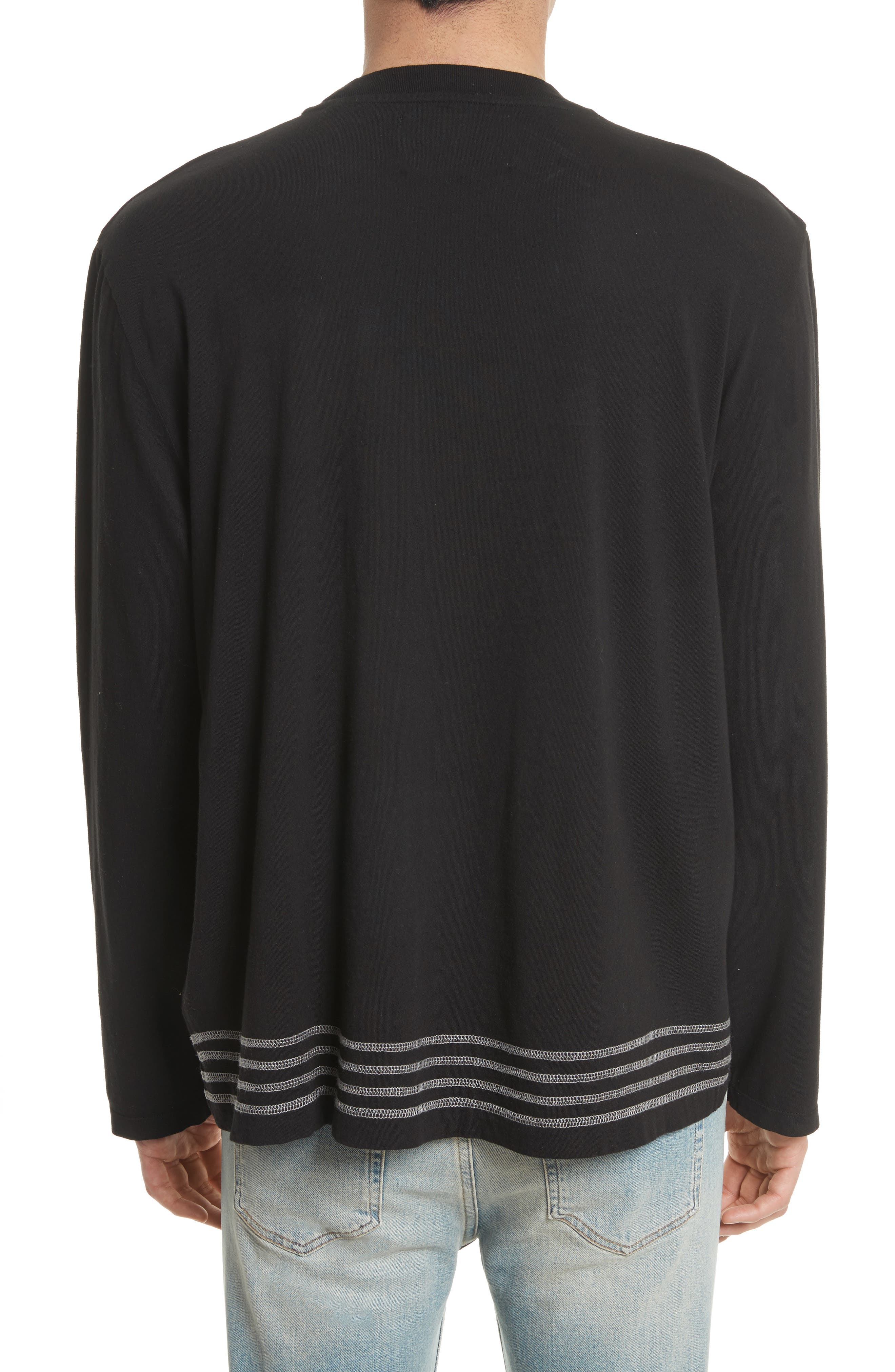 Bottom Stripe T-Shirt,                             Alternate thumbnail 2, color,                             001
