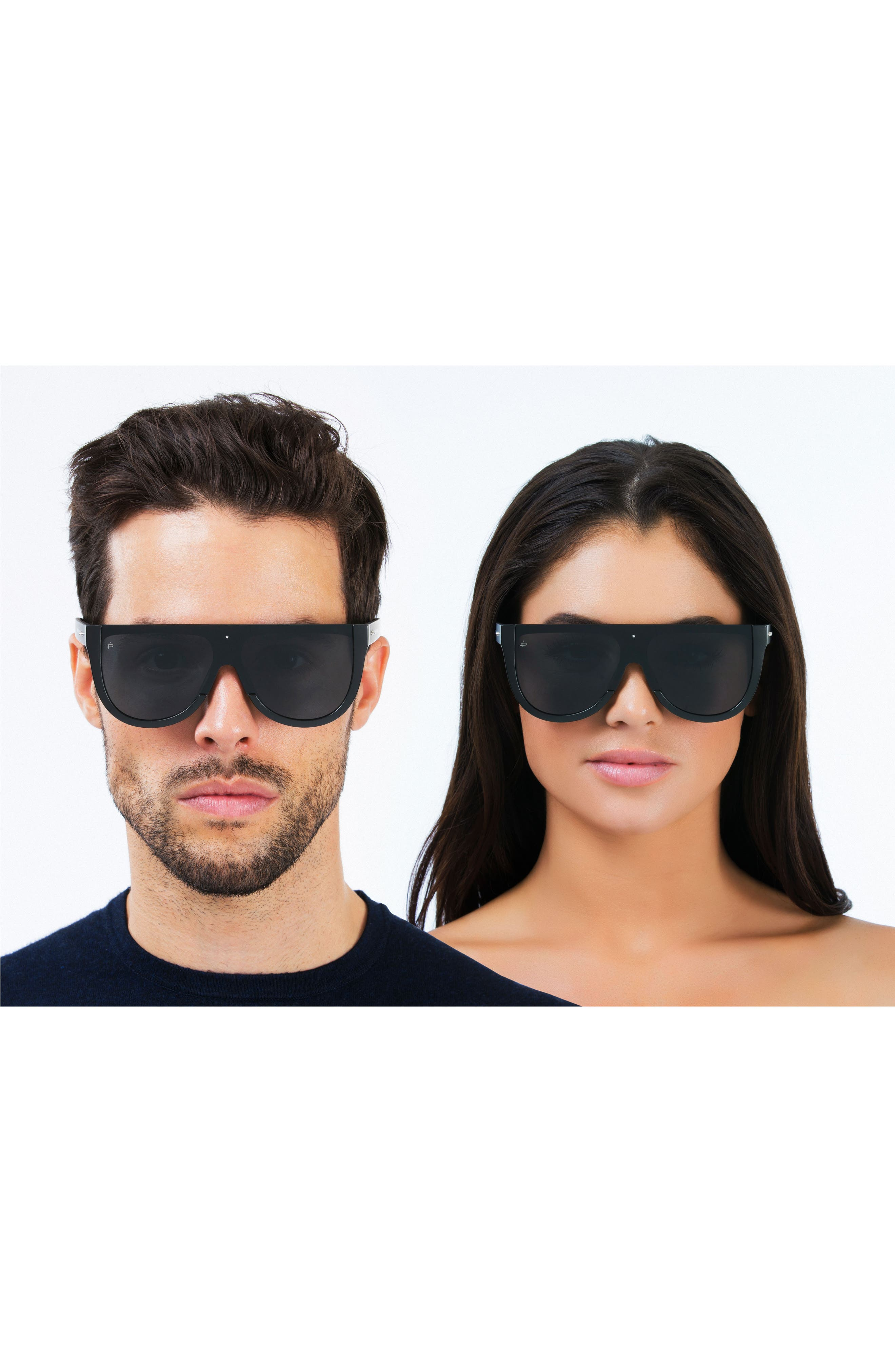 Privé Revaux The Coco 60mm Shield Sunglasses,                             Alternate thumbnail 6, color,                             001