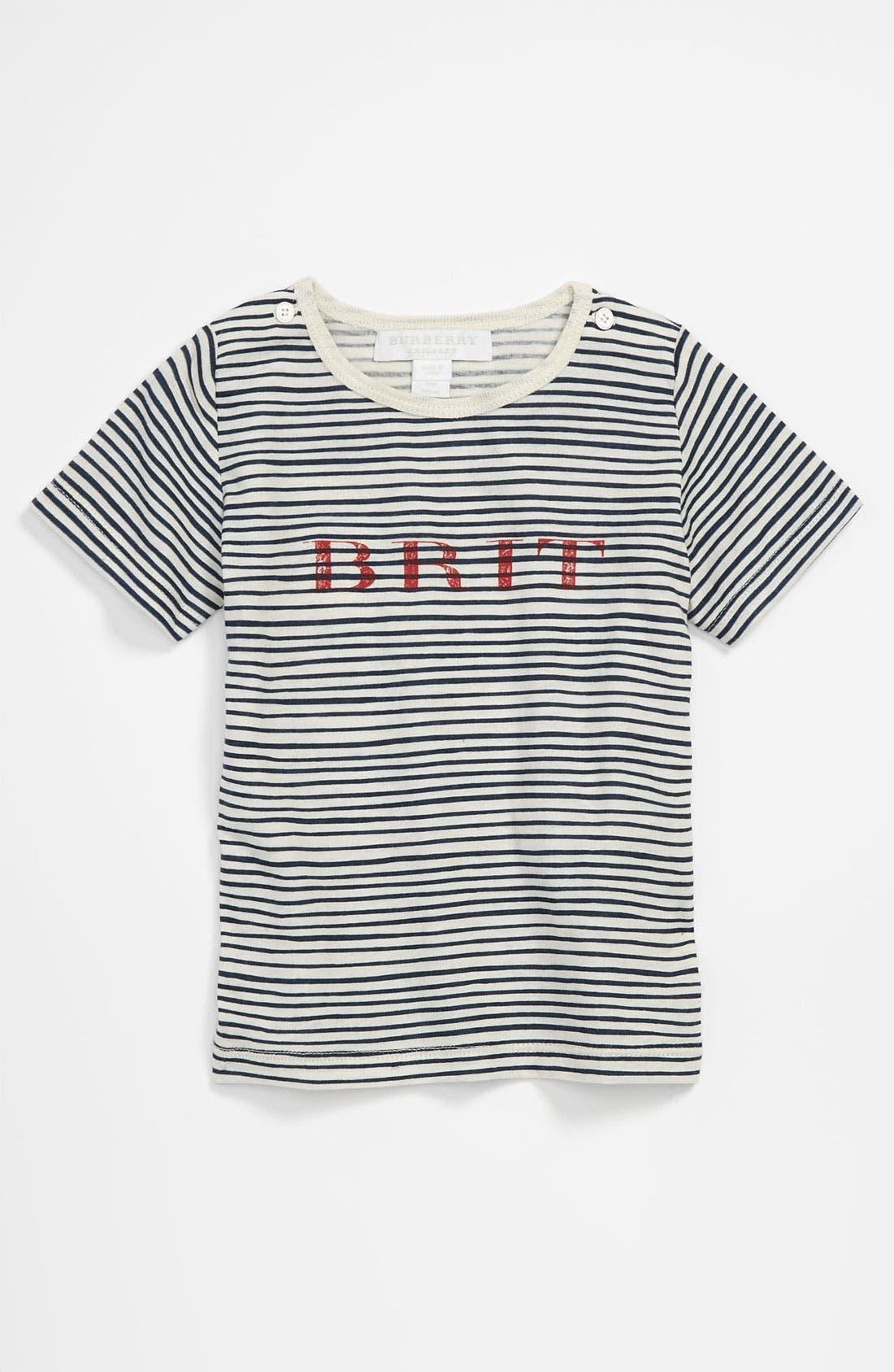 'Mini Treague' Stripe T-Shirt,                         Main,                         color, 482