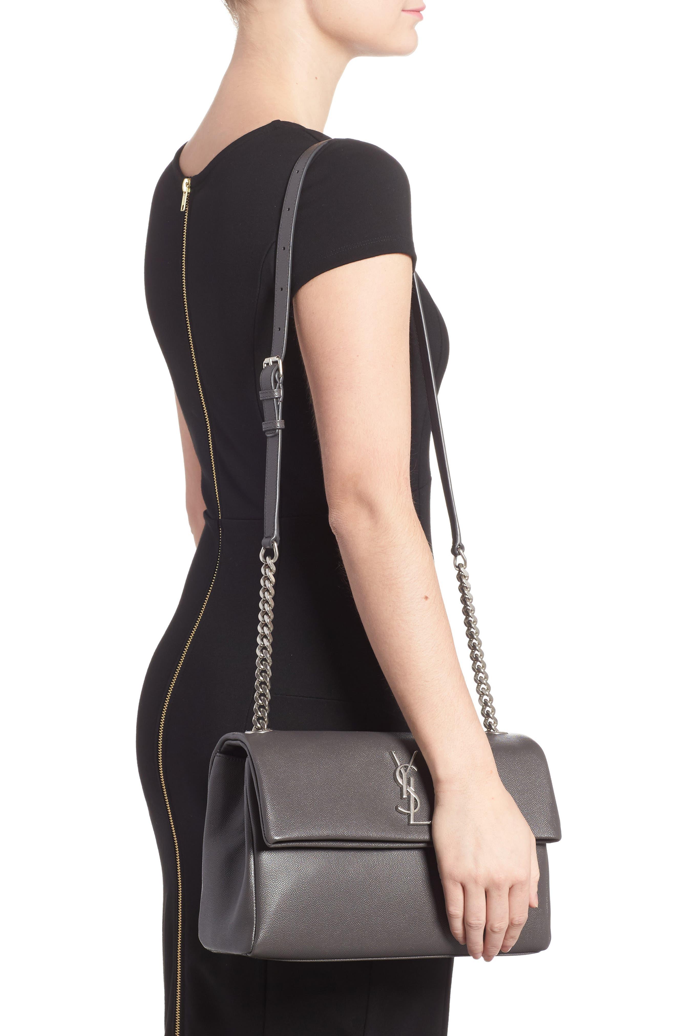 Medium West Hollywood Leather Shoulder Bag,                             Alternate thumbnail 2, color,                             064