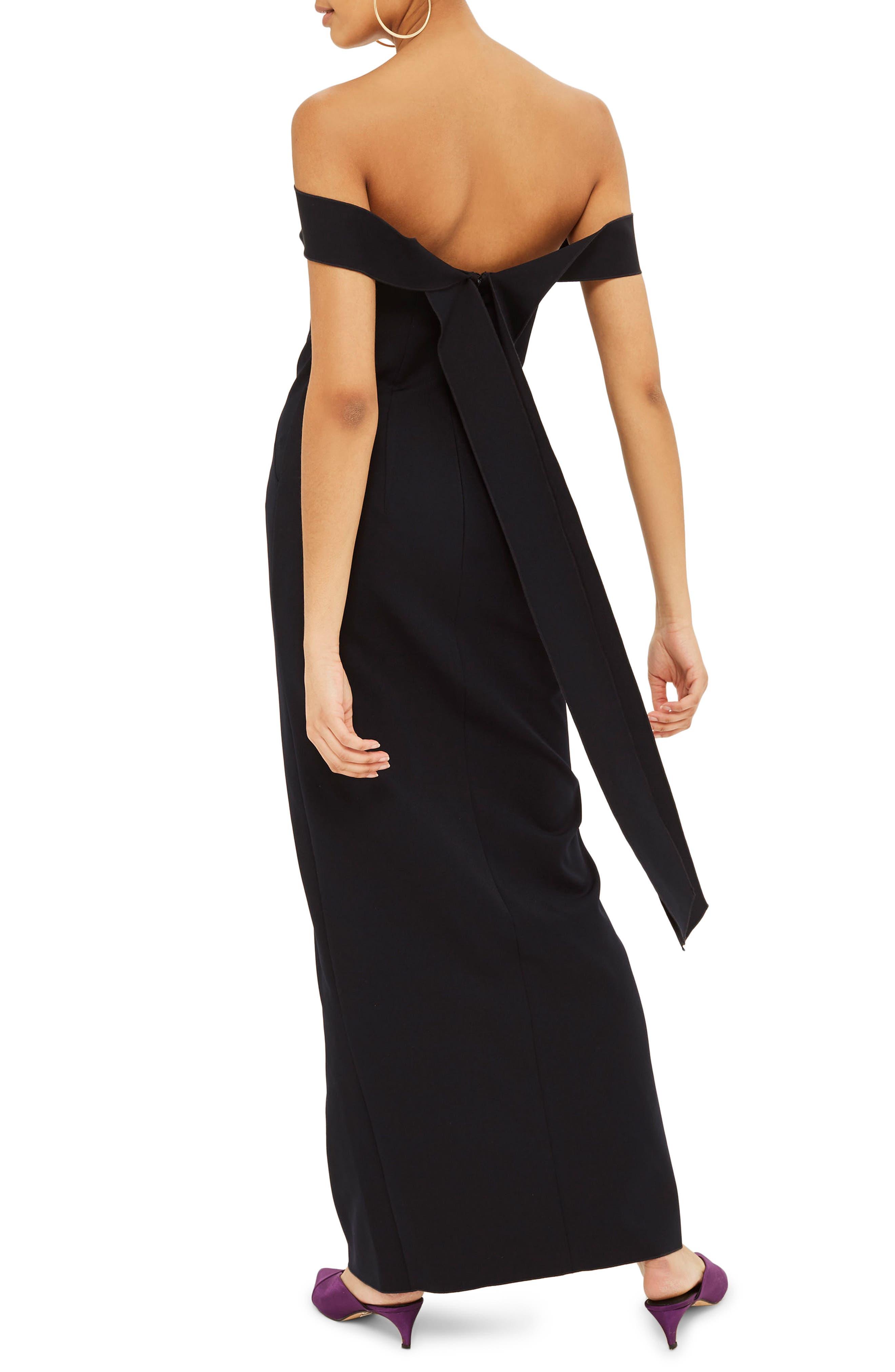 Off the Shoulder Crepe Dress,                             Alternate thumbnail 2, color,                             410