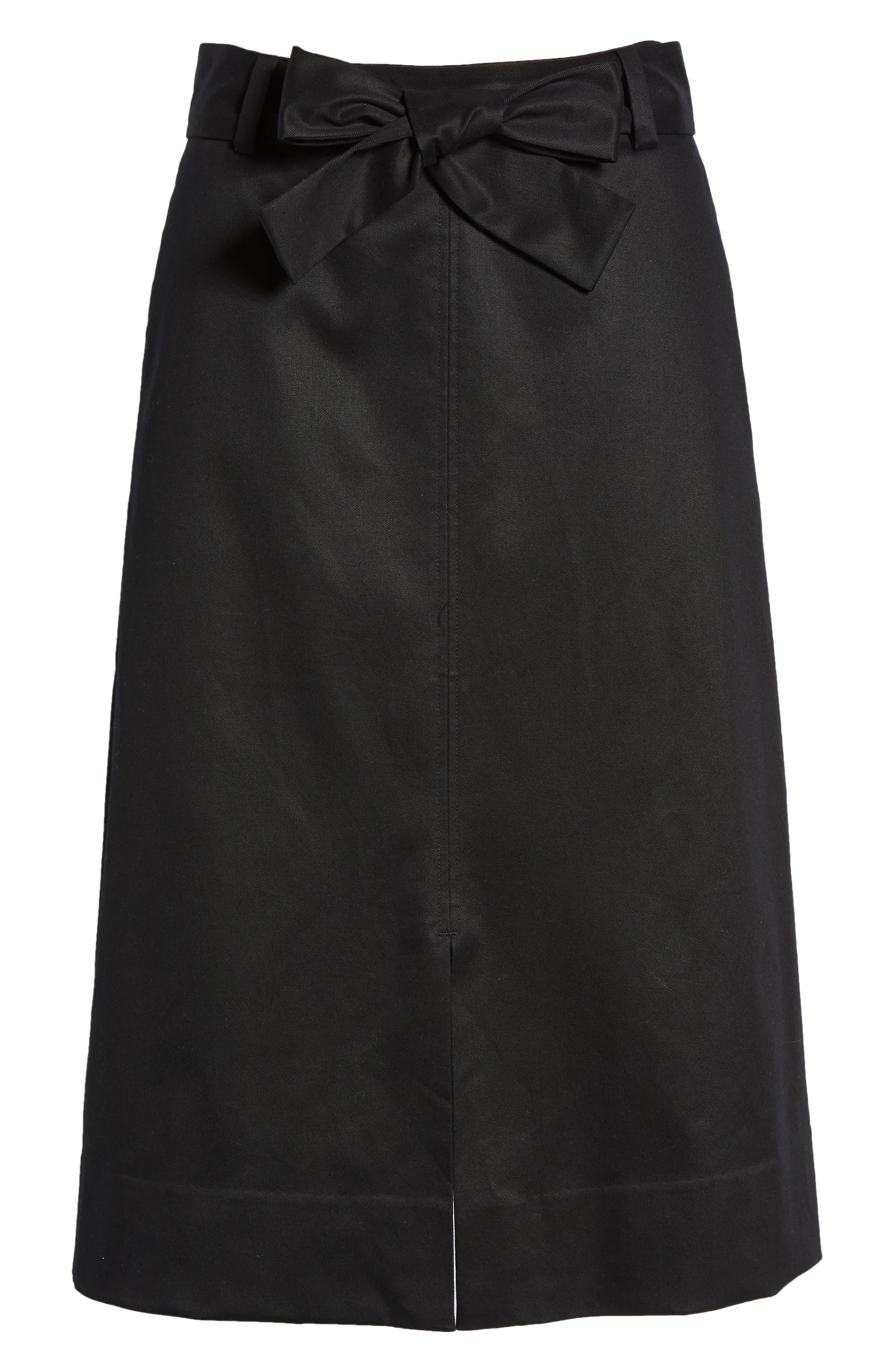 A-Line Midi Skirt,                             Alternate thumbnail 6, color,                             001