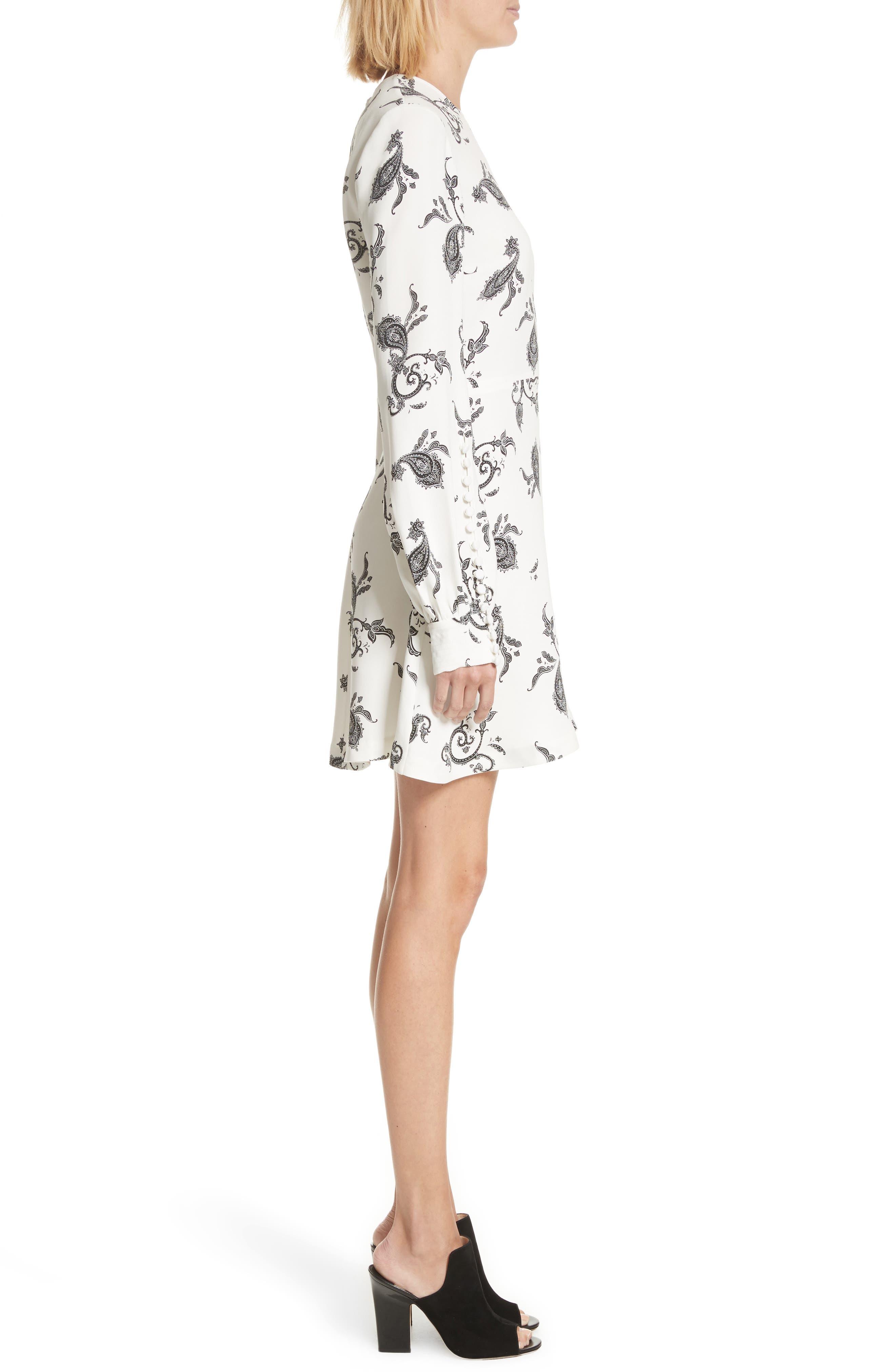 Lauren Print Silk Dress,                             Alternate thumbnail 3, color,                             904