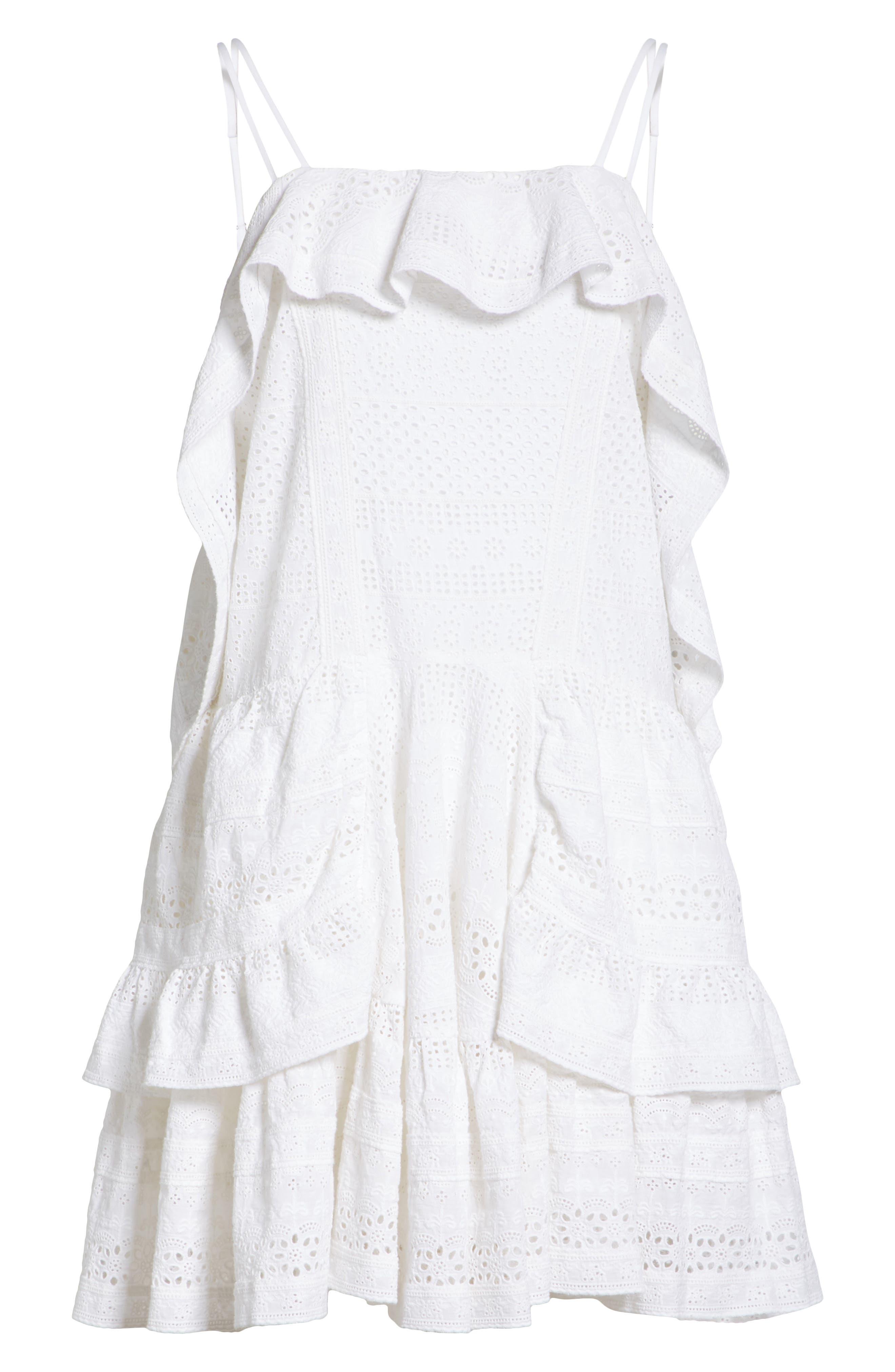 Deconstructed Broderie Dress,                             Alternate thumbnail 6, color,                             100