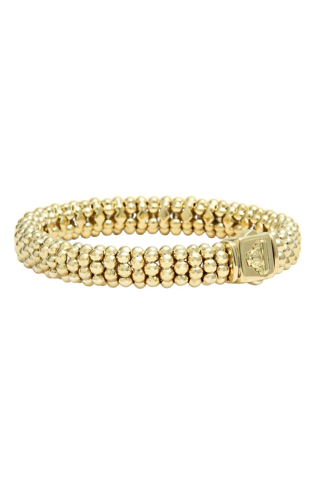 'Caviar Gold' Rope Bracelet,                             Alternate thumbnail 8, color,                             GOLD
