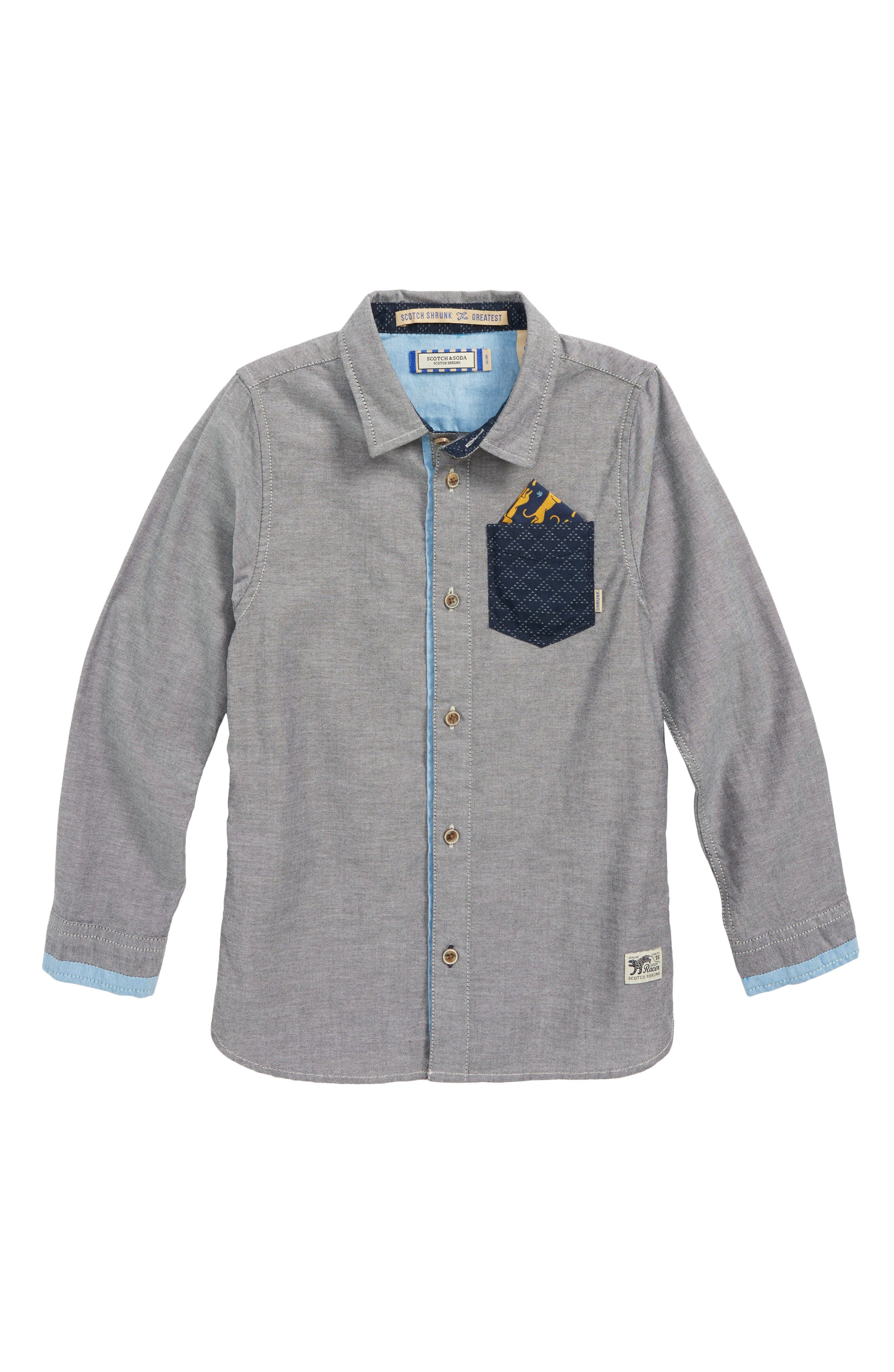 Contrast Pocket Shirt,                             Main thumbnail 1, color,                             605 Z