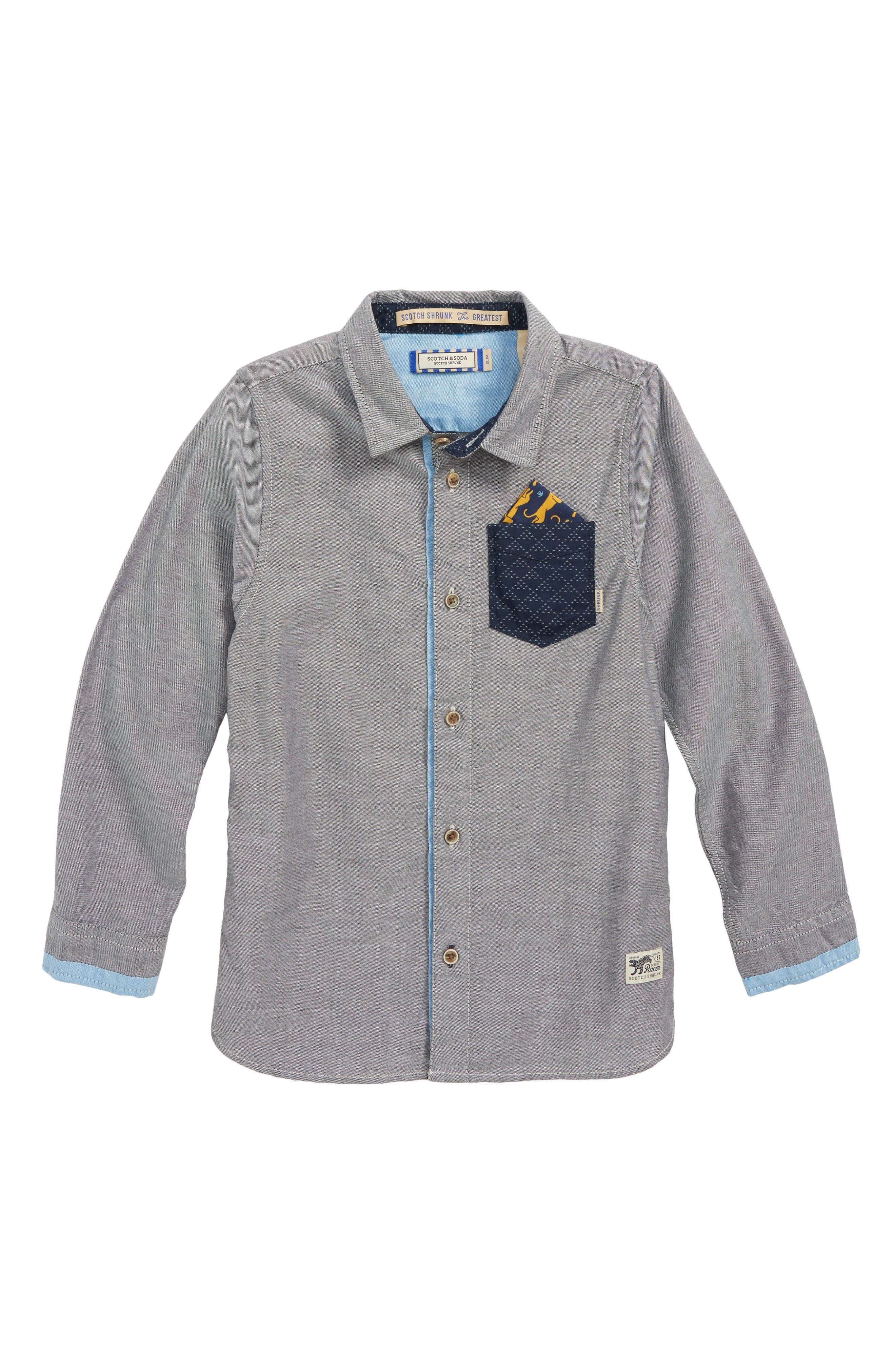 Contrast Pocket Shirt,                         Main,                         color, 605 Z