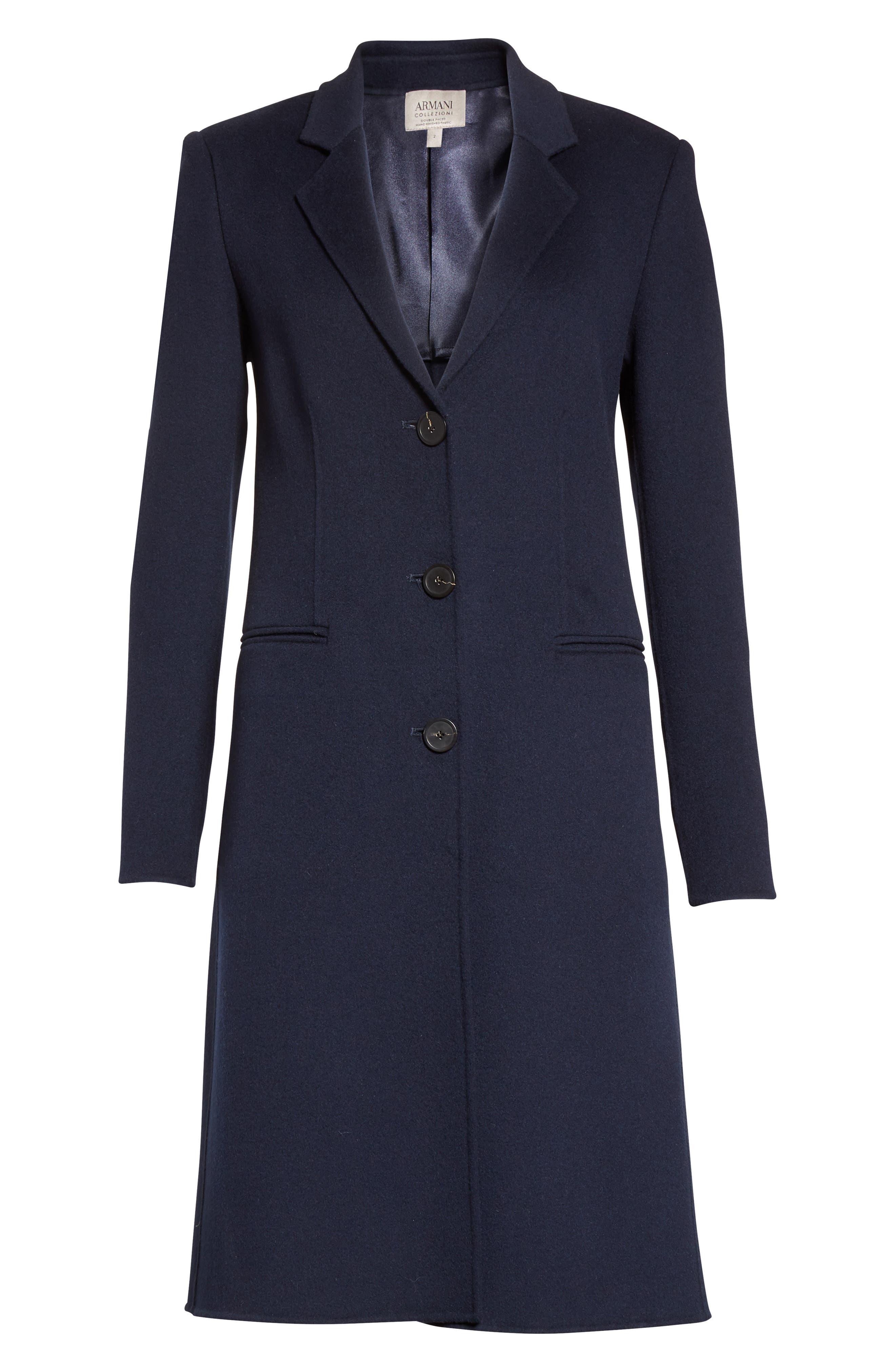 Double Face Cashmere Coat,                             Alternate thumbnail 4, color,                             457