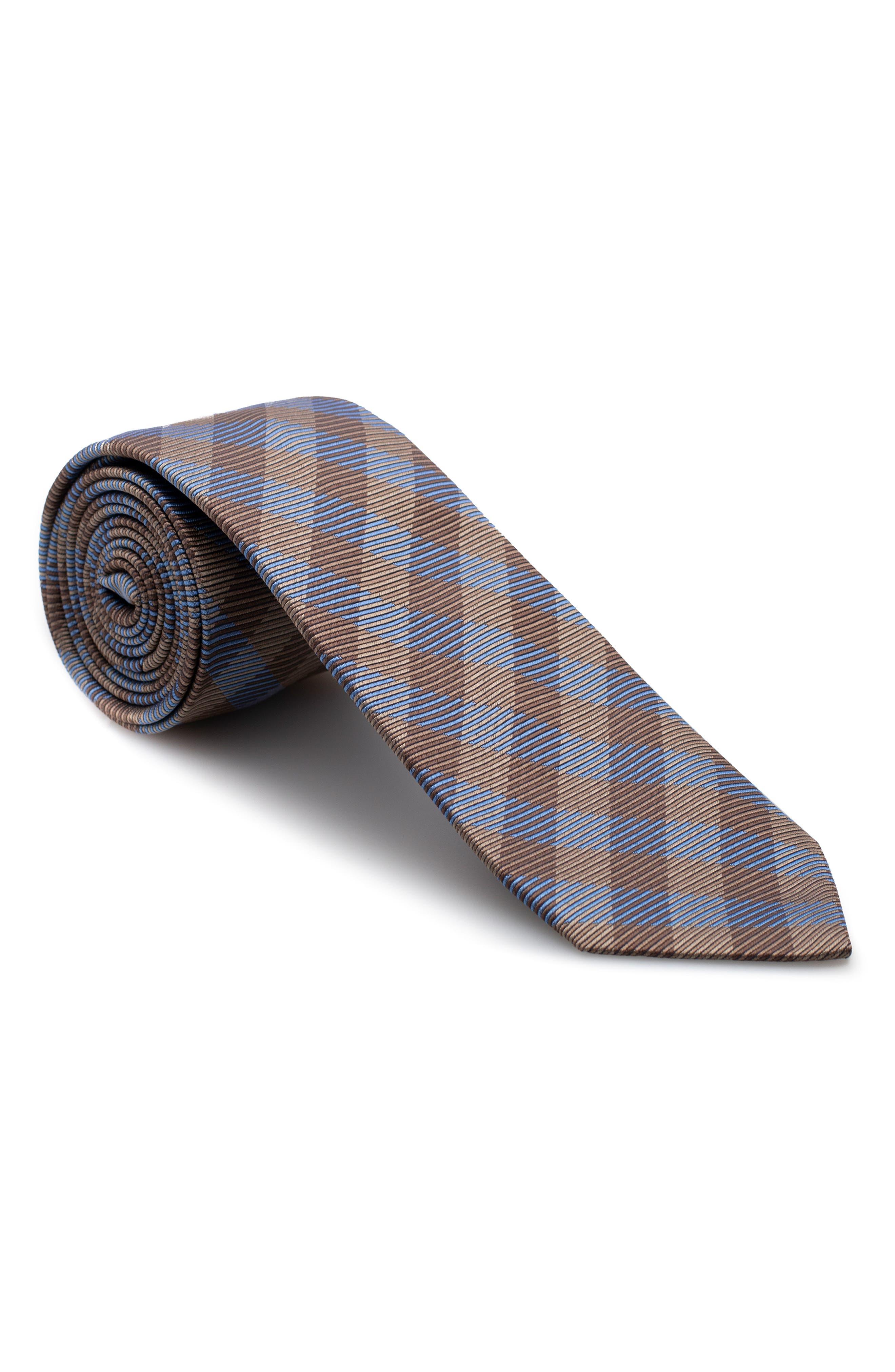 Plaid Silk Tie,                             Main thumbnail 1, color,                             200