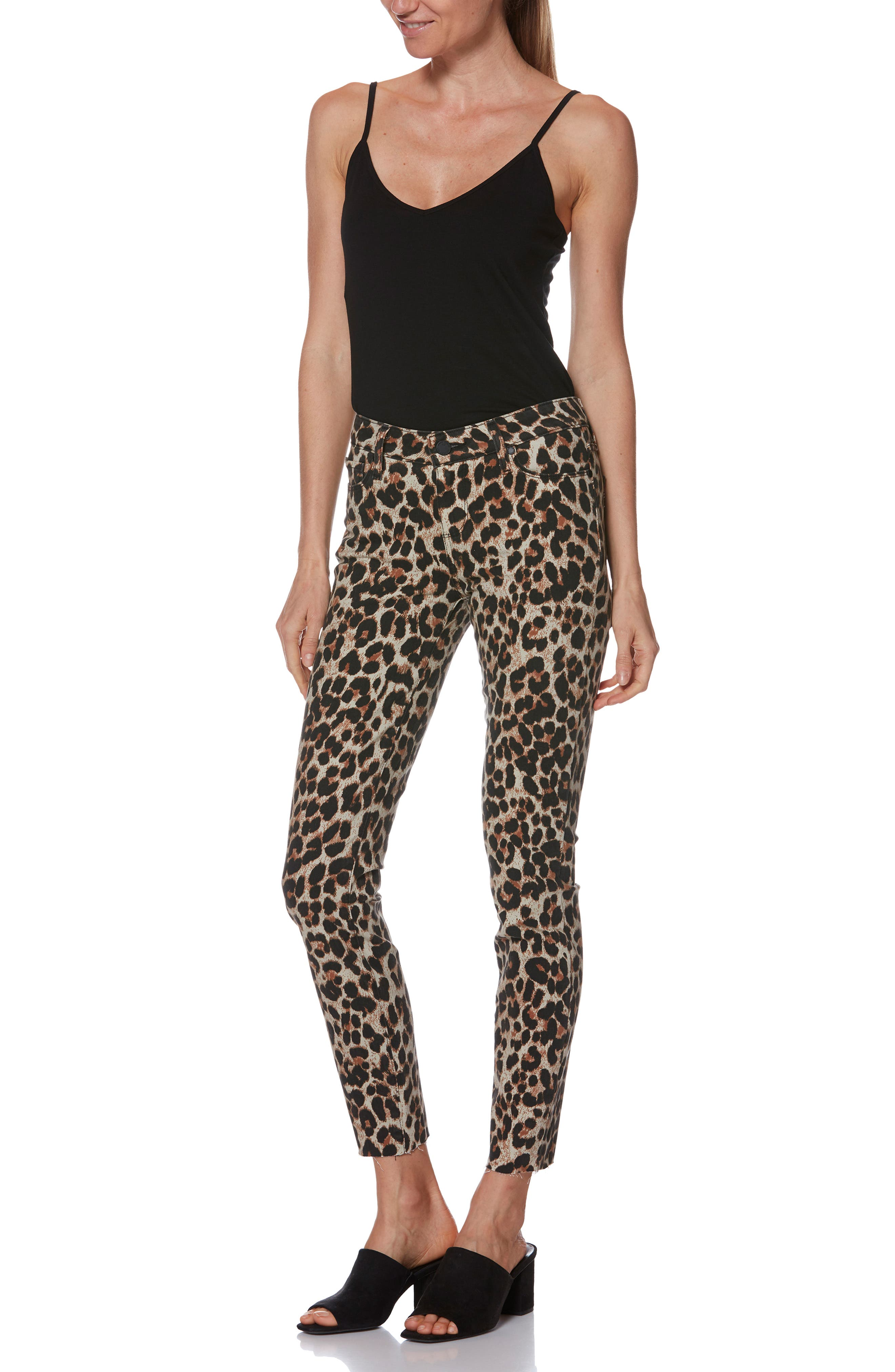 Verdugo Ankle Skinny Jeans,                             Alternate thumbnail 8, color,                             SAHARA LEOPARD