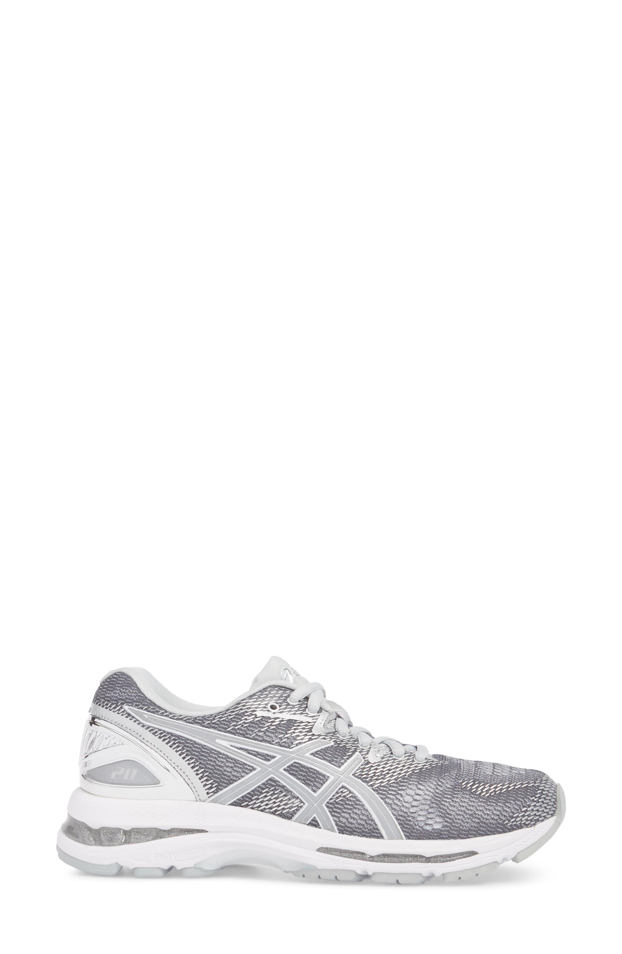 GEL-Nimbus 20 Platinum Running Shoe,                             Alternate thumbnail 3, color,                             097