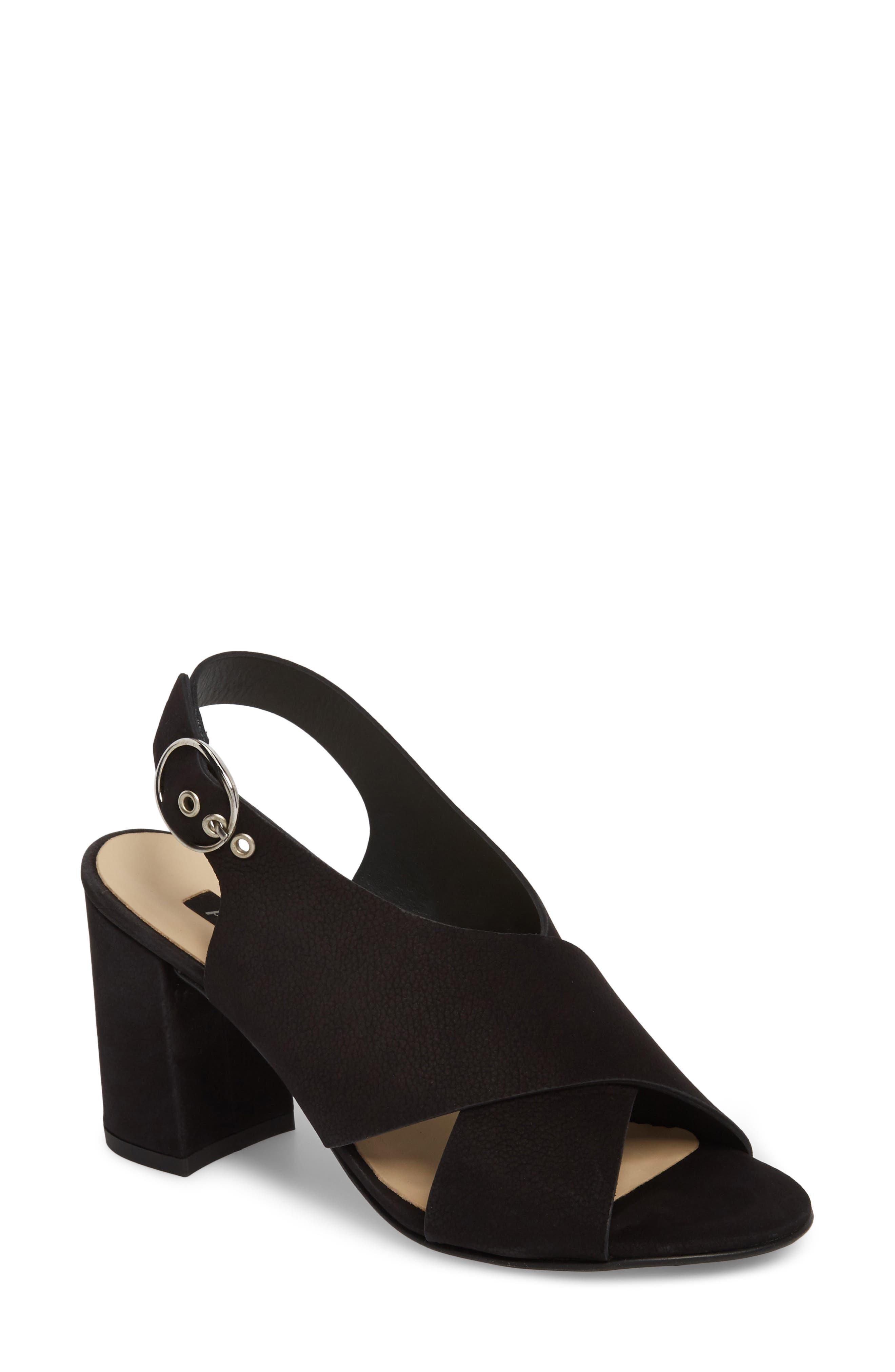 Retro Slingback Sandal,                         Main,                         color, 001